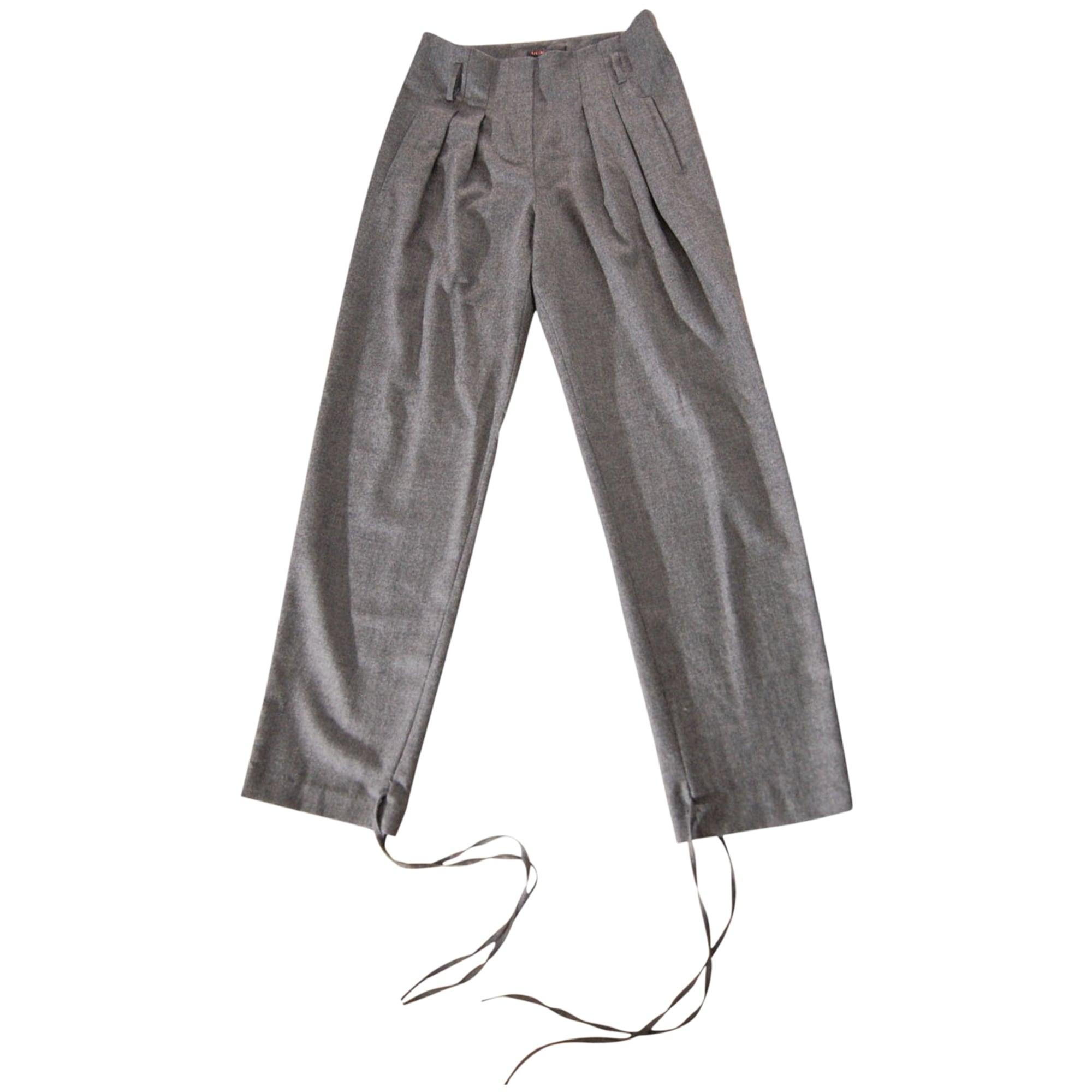 Pantalon carotte MAJE Gris, anthracite