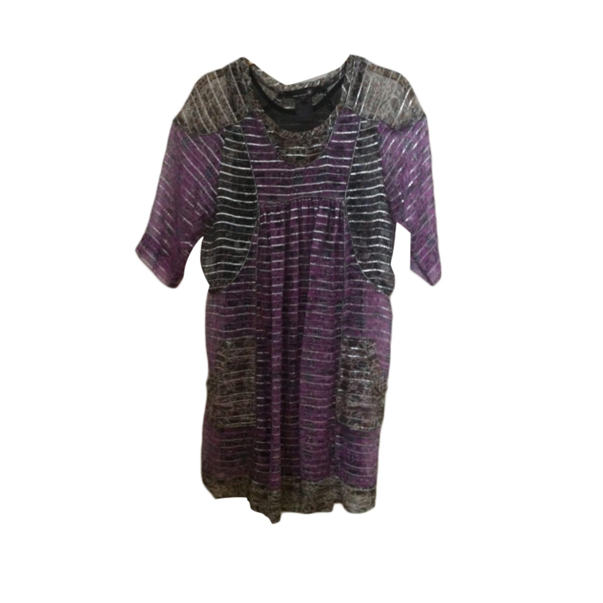 Robe courte ISABEL MARANT Violet, mauve, lavande