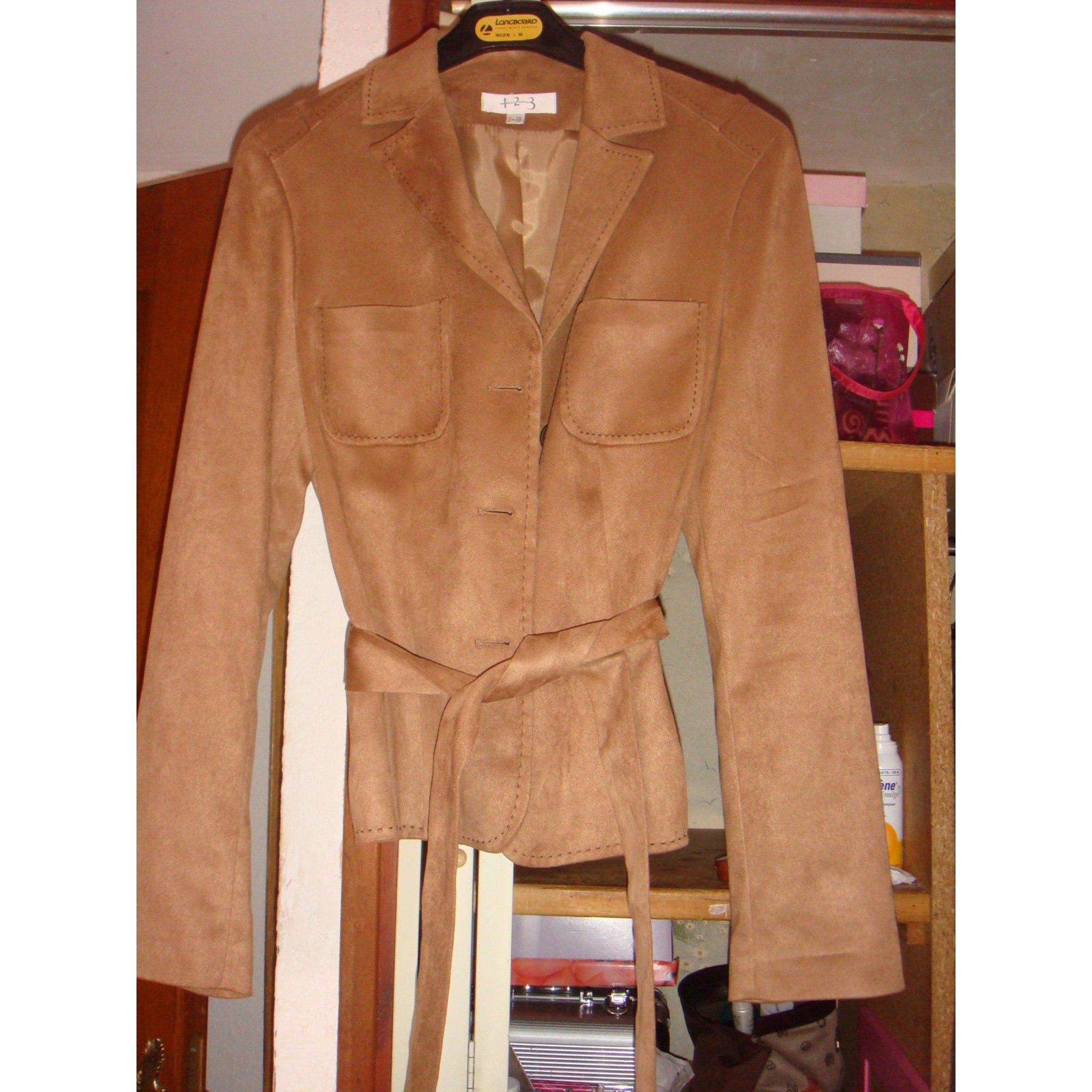 Blazer, veste tailleur 1.2.3 Marron