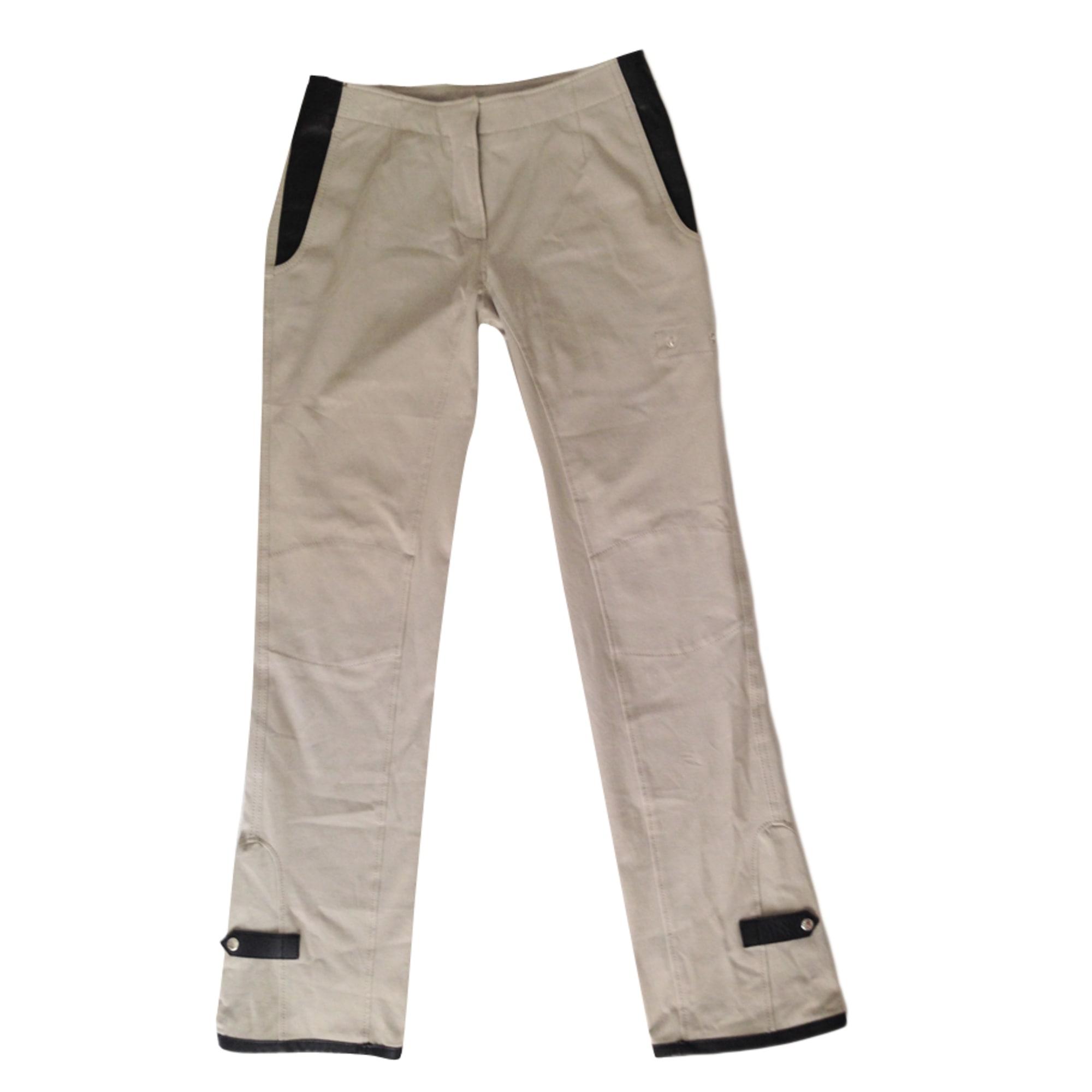 Pantalon droit PRADA Beige, camel