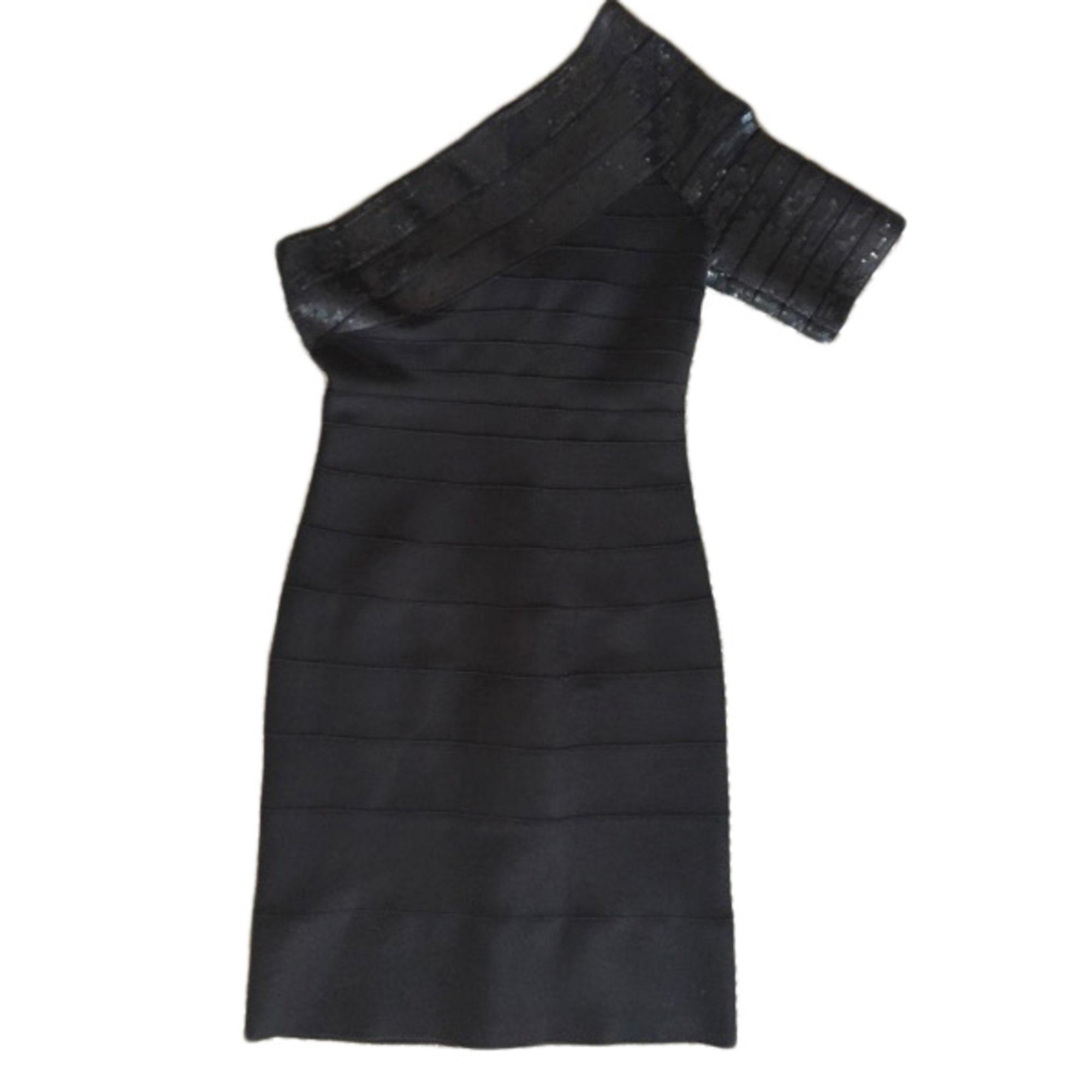 Robe courte HERVE LEGER Noir