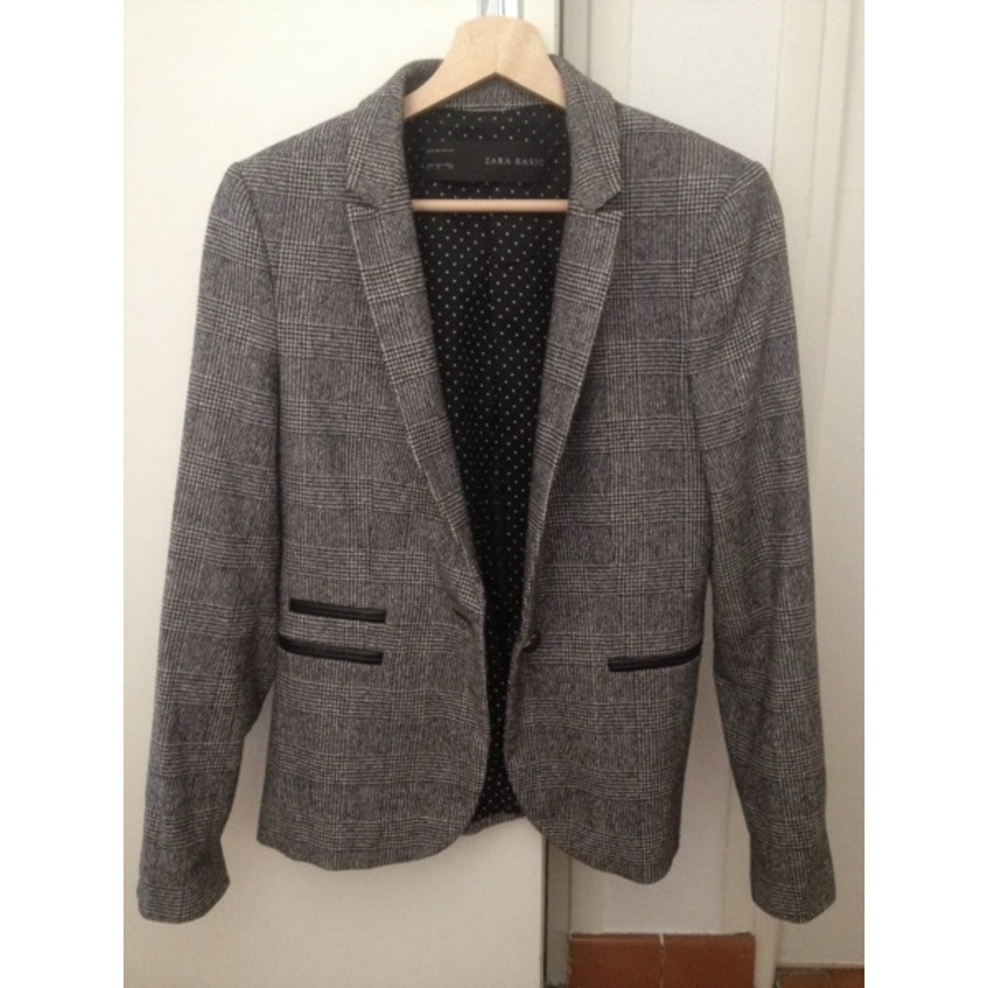 Blazer, veste tailleur ZARA 38 (M, T2) prince de galles noir