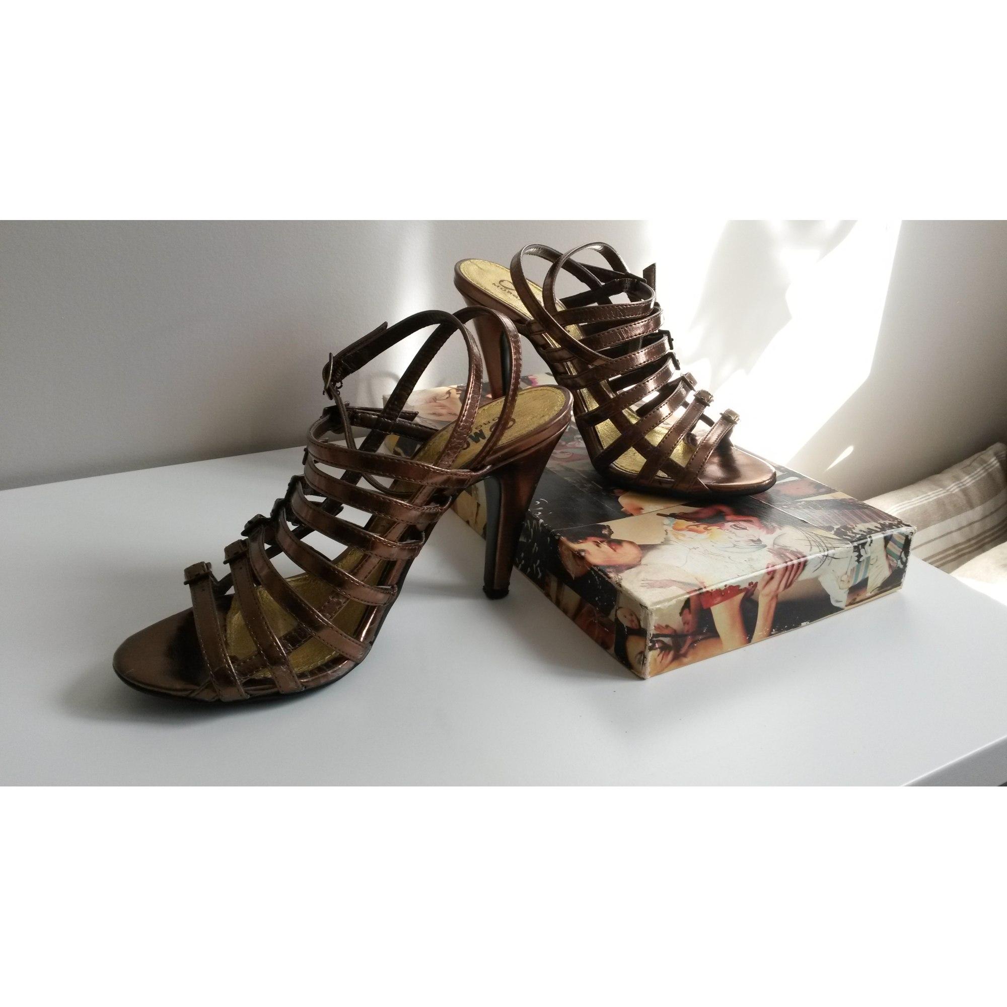 Escarpins à bouts ouverts MORGAN Doré, bronze, cuivre