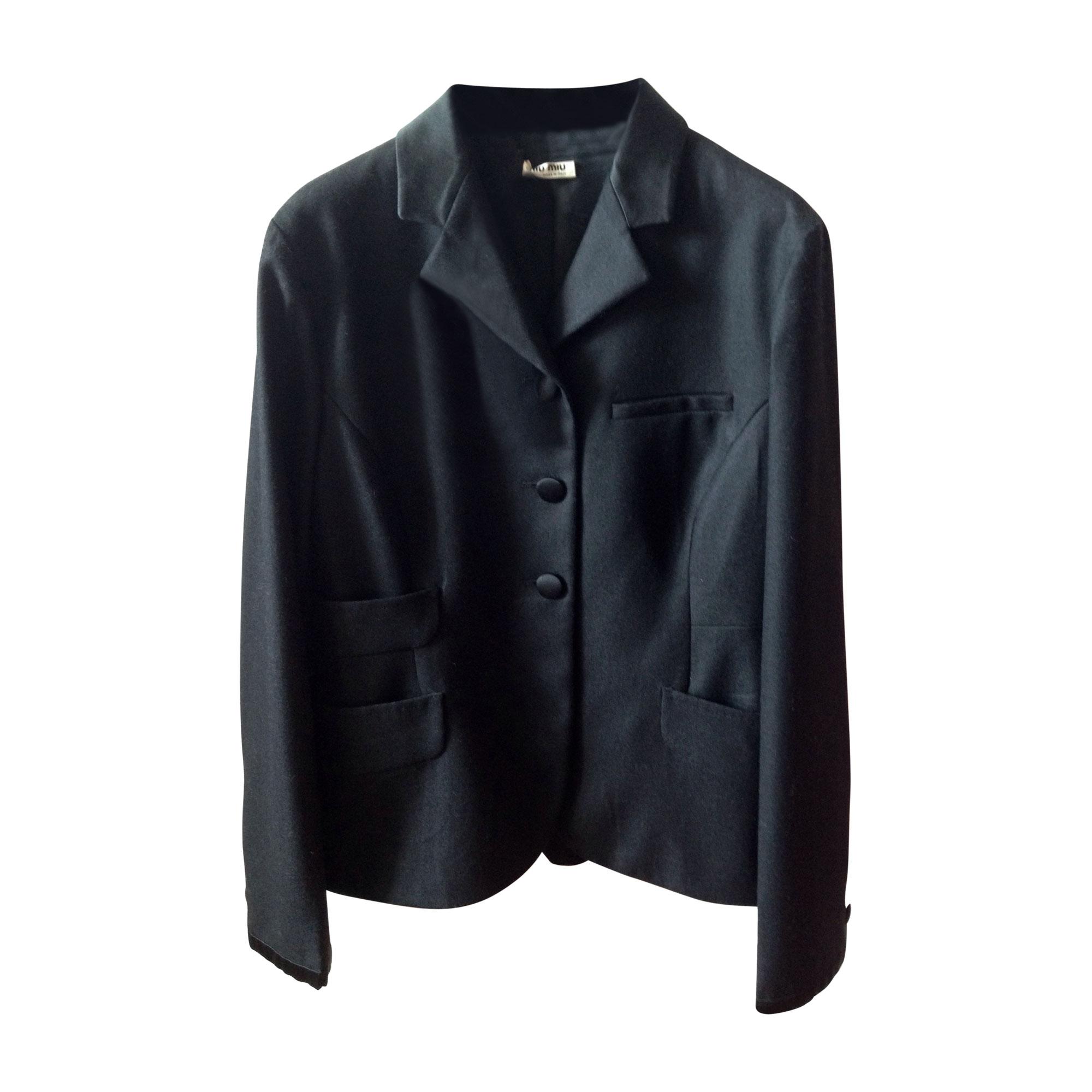Blazer, veste tailleur MIU MIU Noir