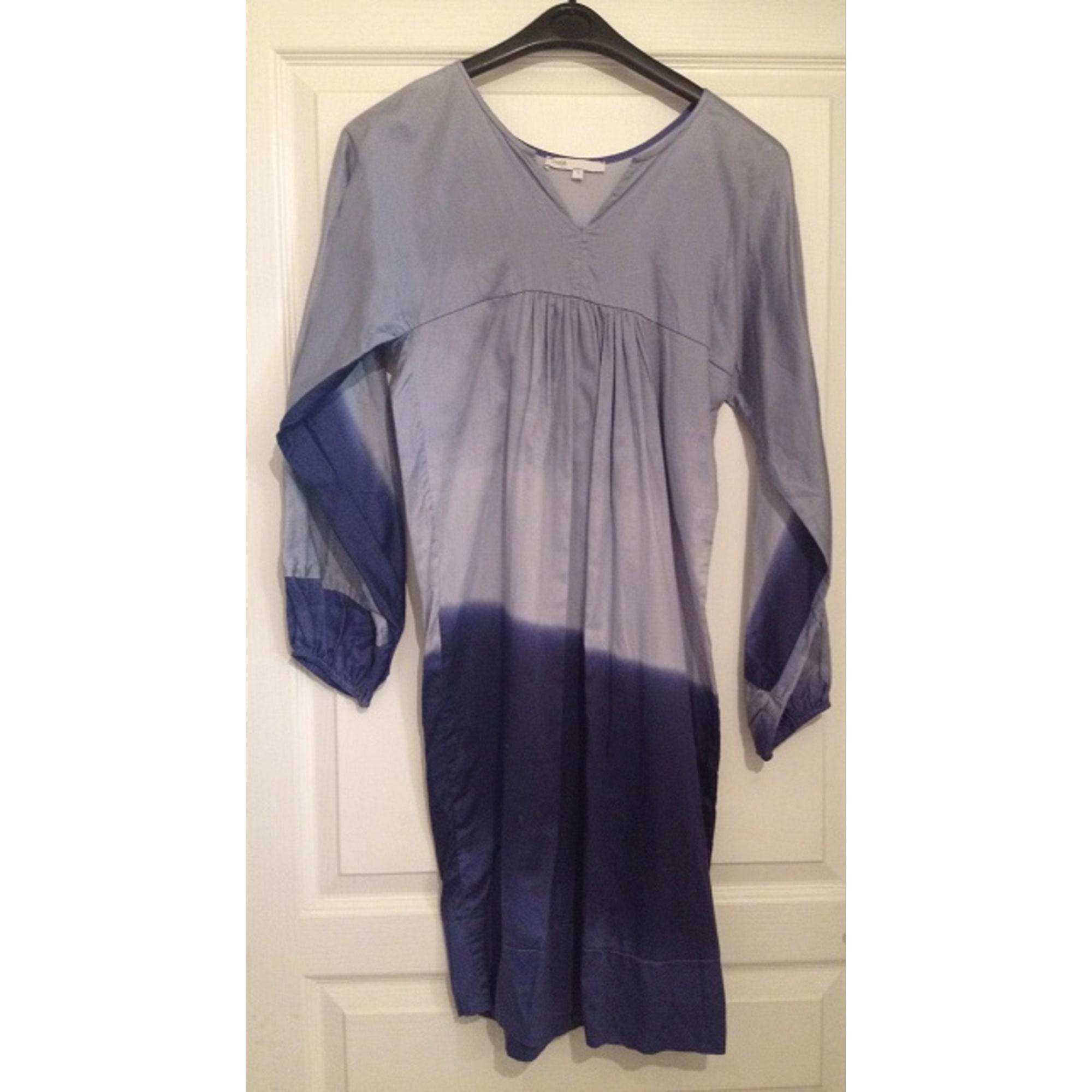 Robe mi-longue MAJE Bleu, bleu marine, bleu turquoise