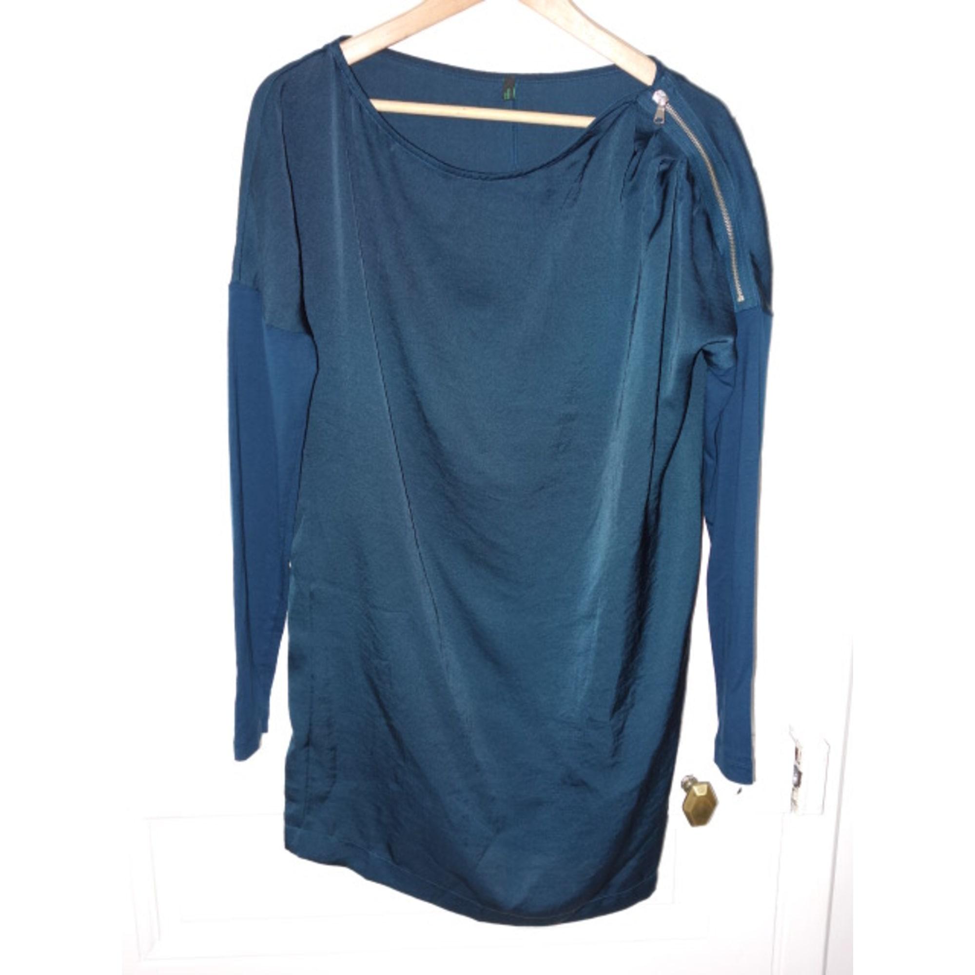 Robe tunique BENETTON Bleu, bleu marine, bleu turquoise