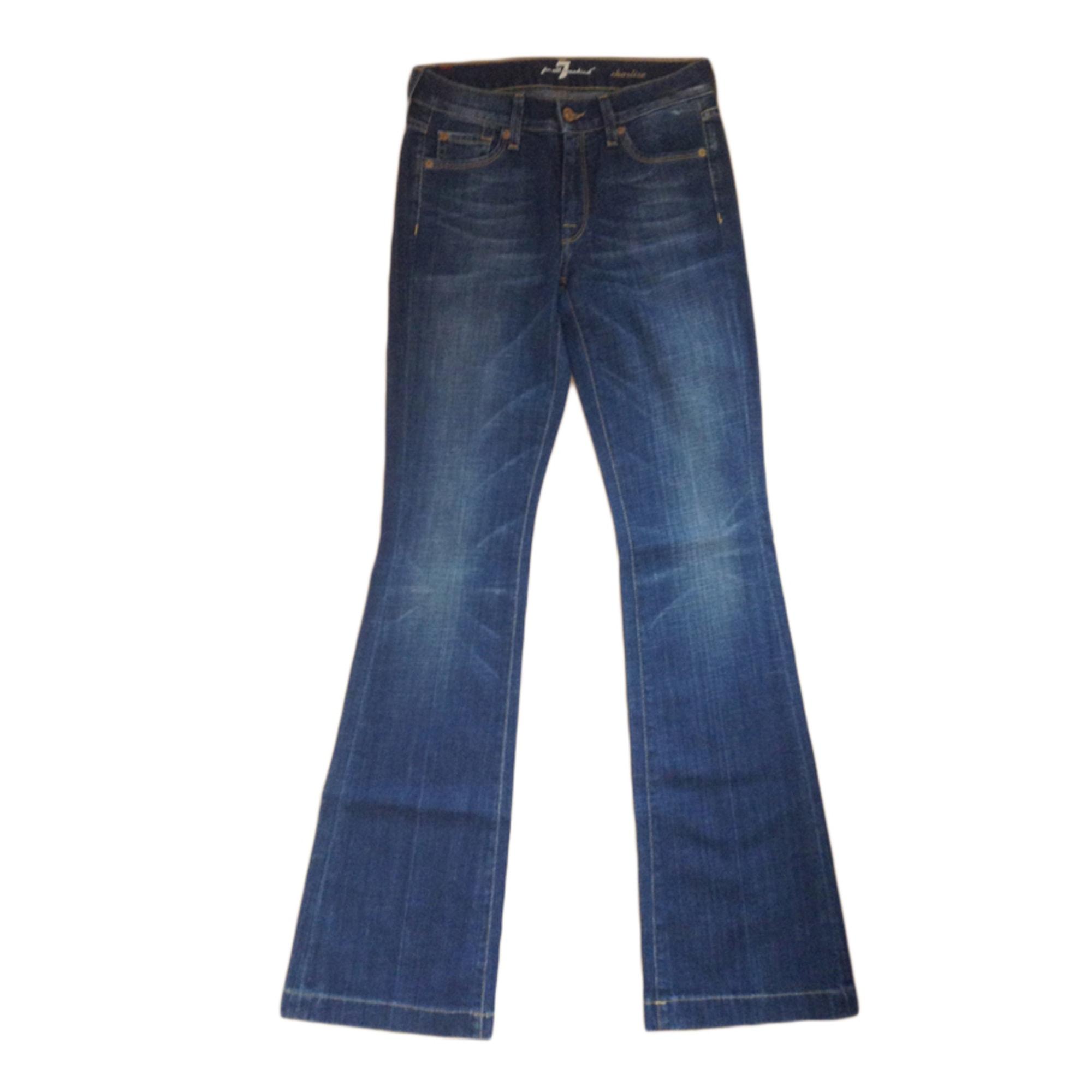 Jeans très evasé, patte d'éléphant 7 FOR ALL MANKIND Bleu, bleu marine, bleu turquoise