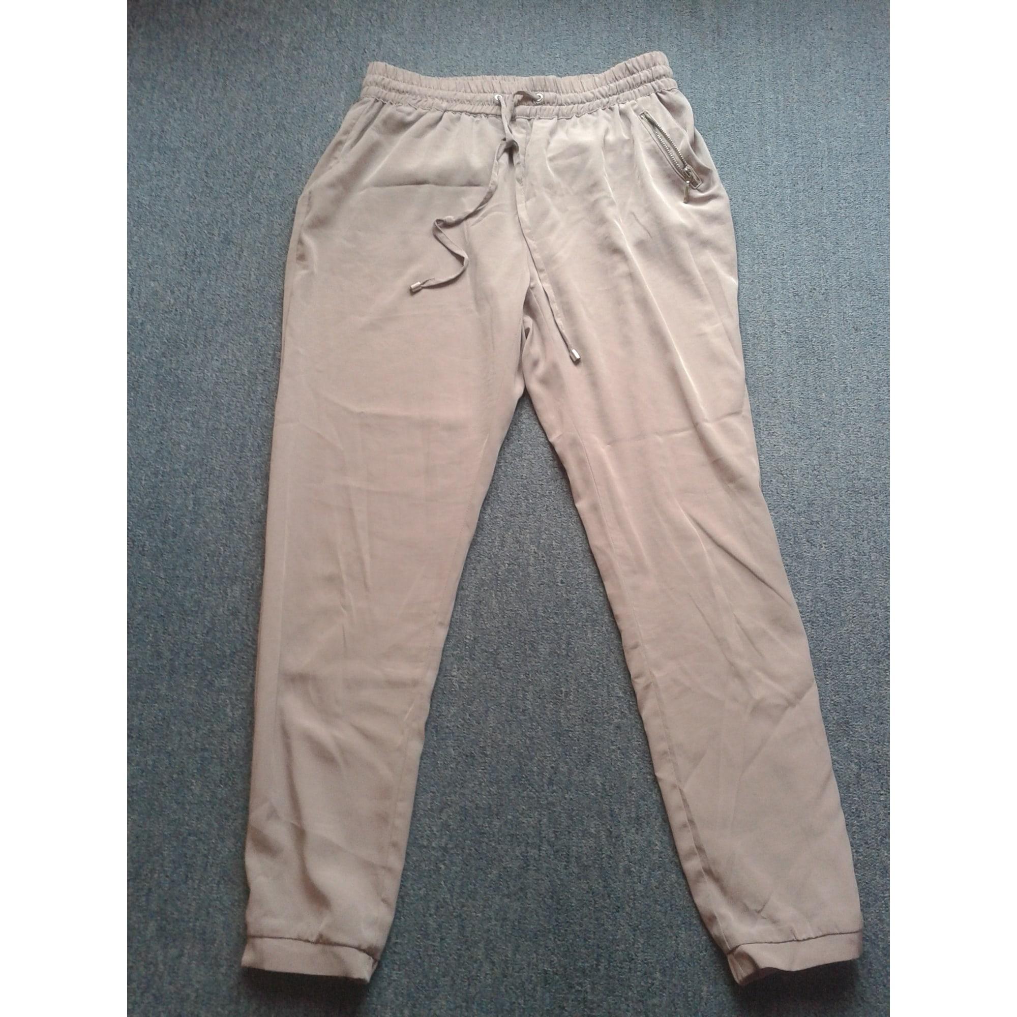 Pantalon large BERSHKA Beige, camel