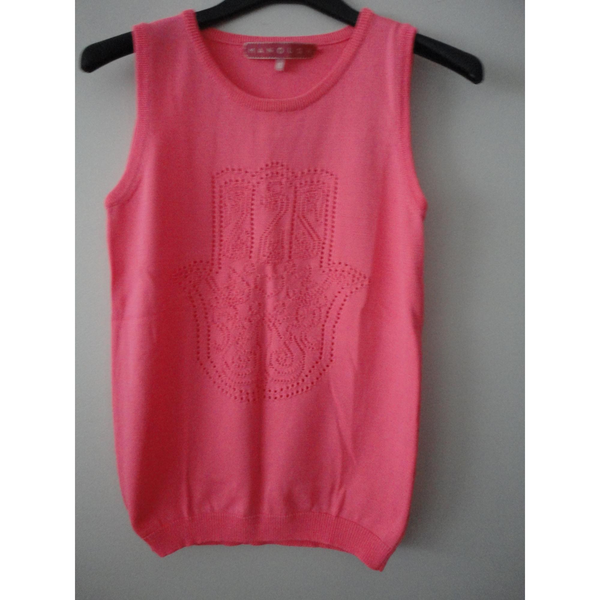 Top, tee-shirt MARQUE INCONNUE Rose, fuschia, vieux rose
