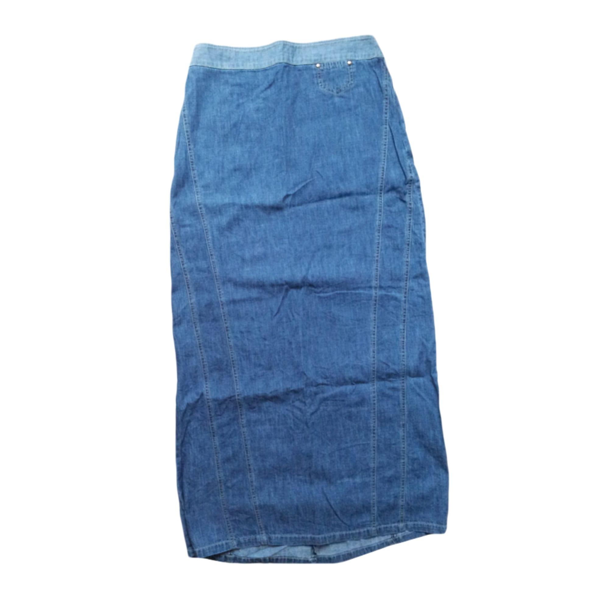 Jupe en jean ETAM Bleu, bleu marine, bleu turquoise