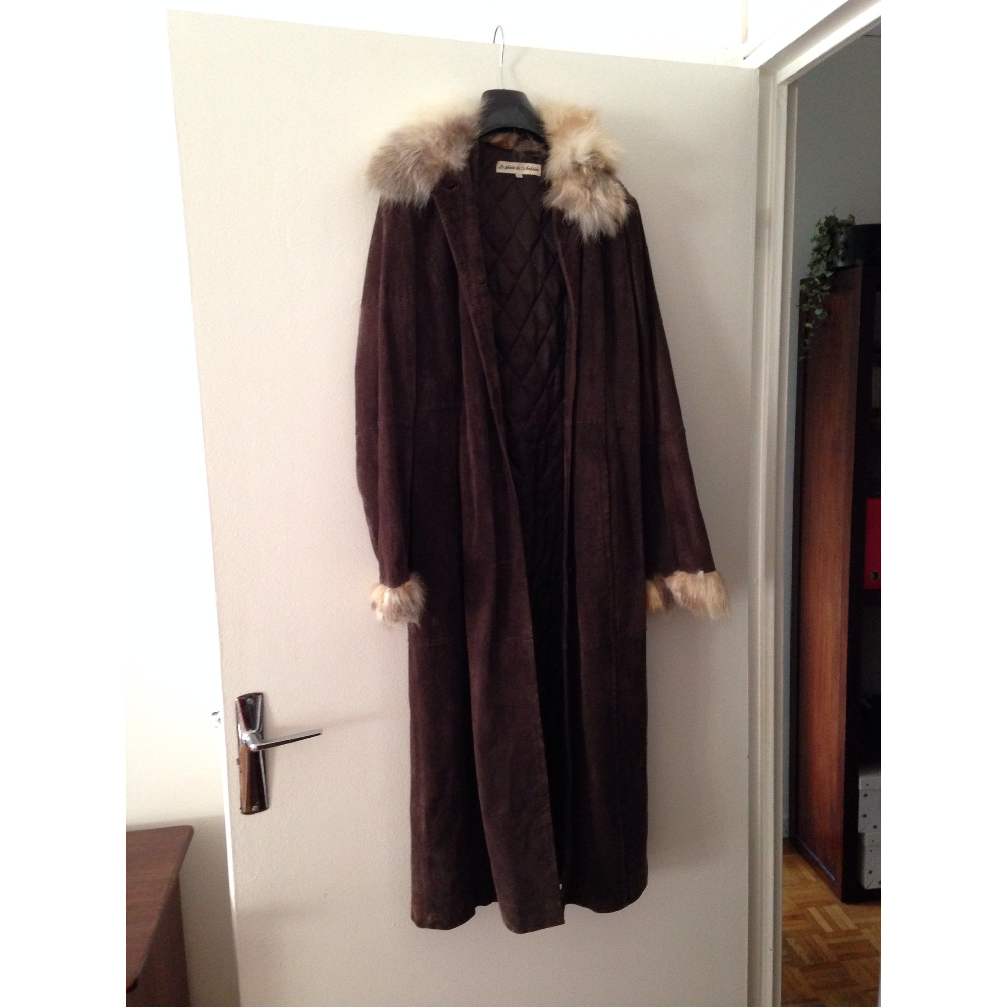 Manteau en cuir LE PHARE DE LA BALEINE Marron