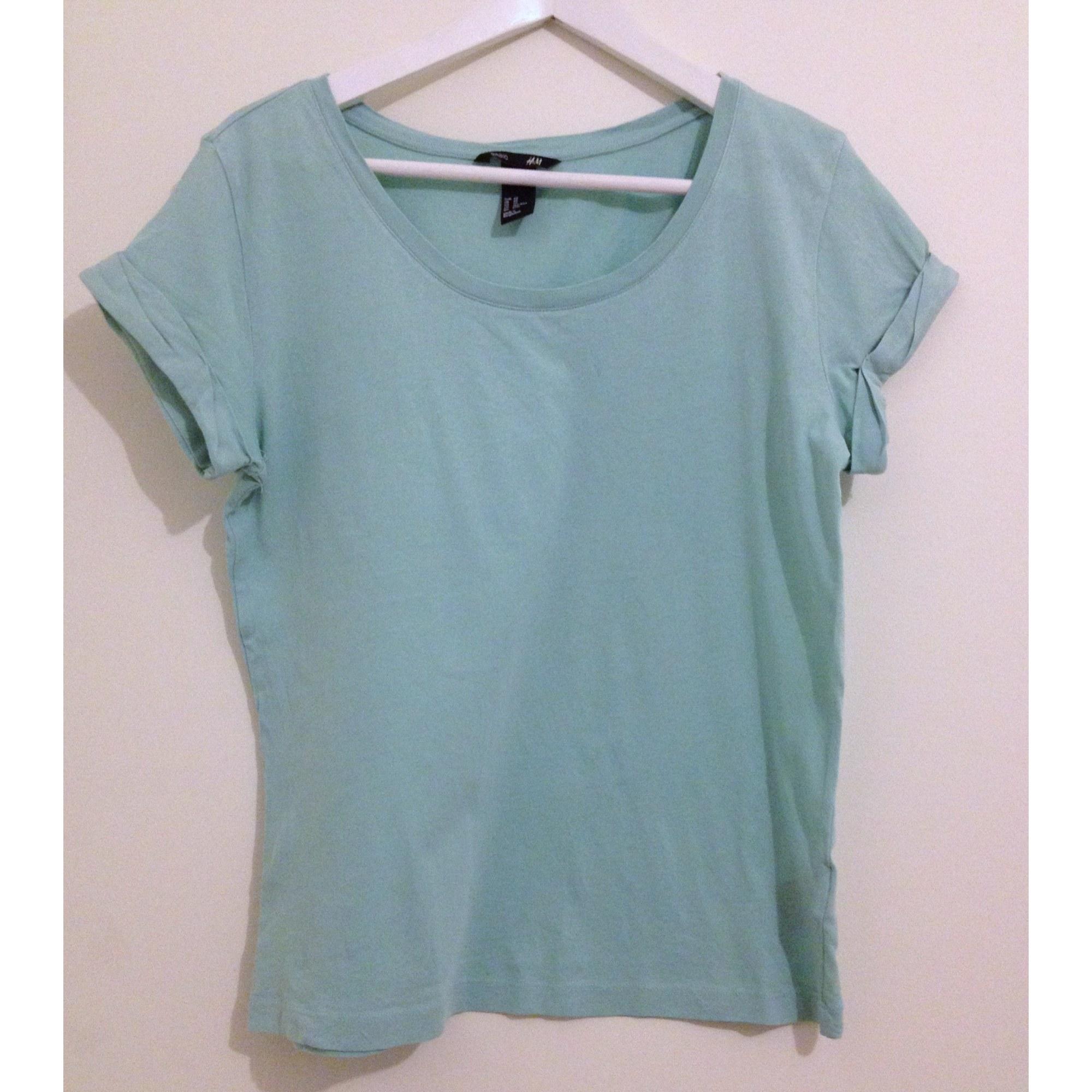 Top, tee-shirt H&M Vert