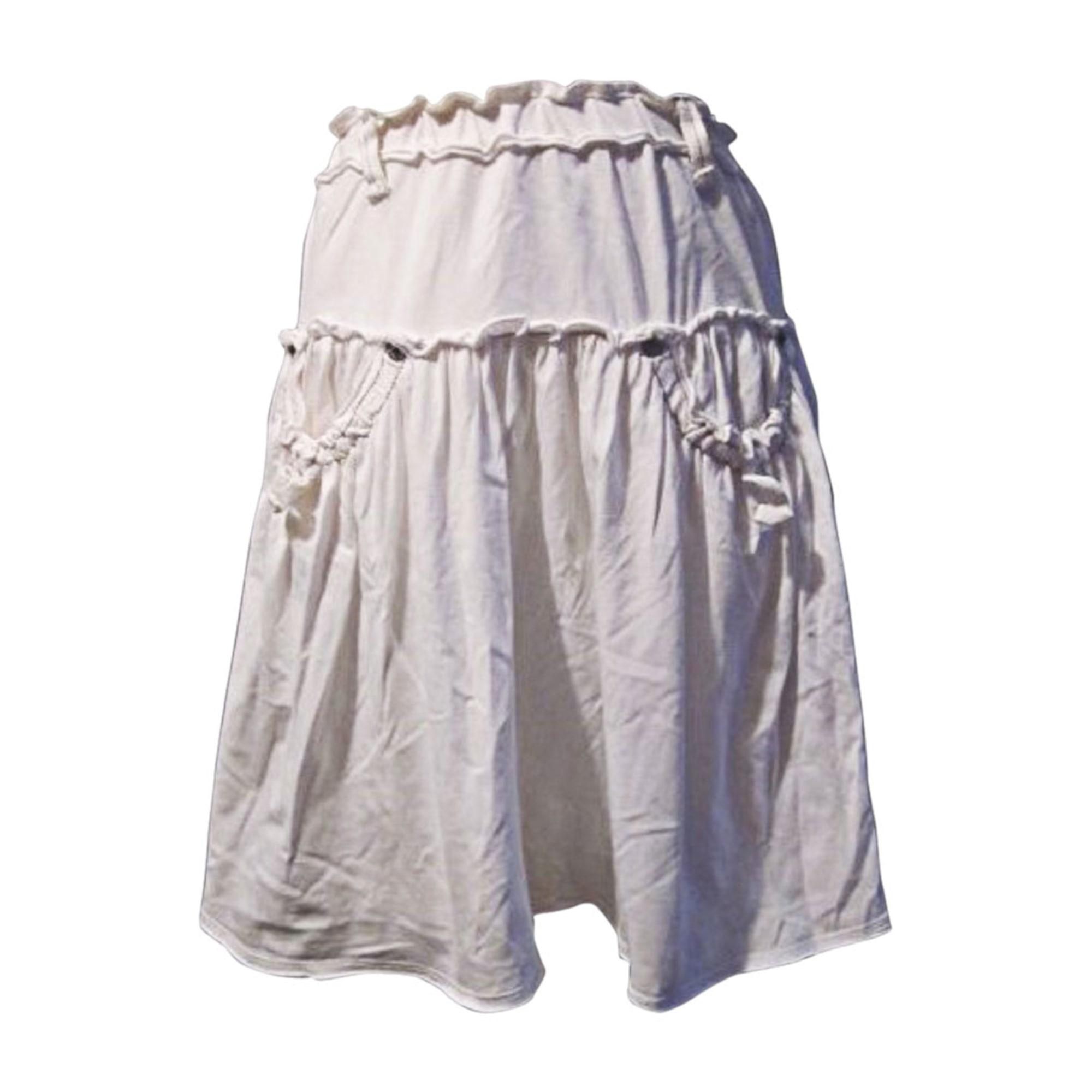 Jupe DKNY Blanc, blanc cassé, écru