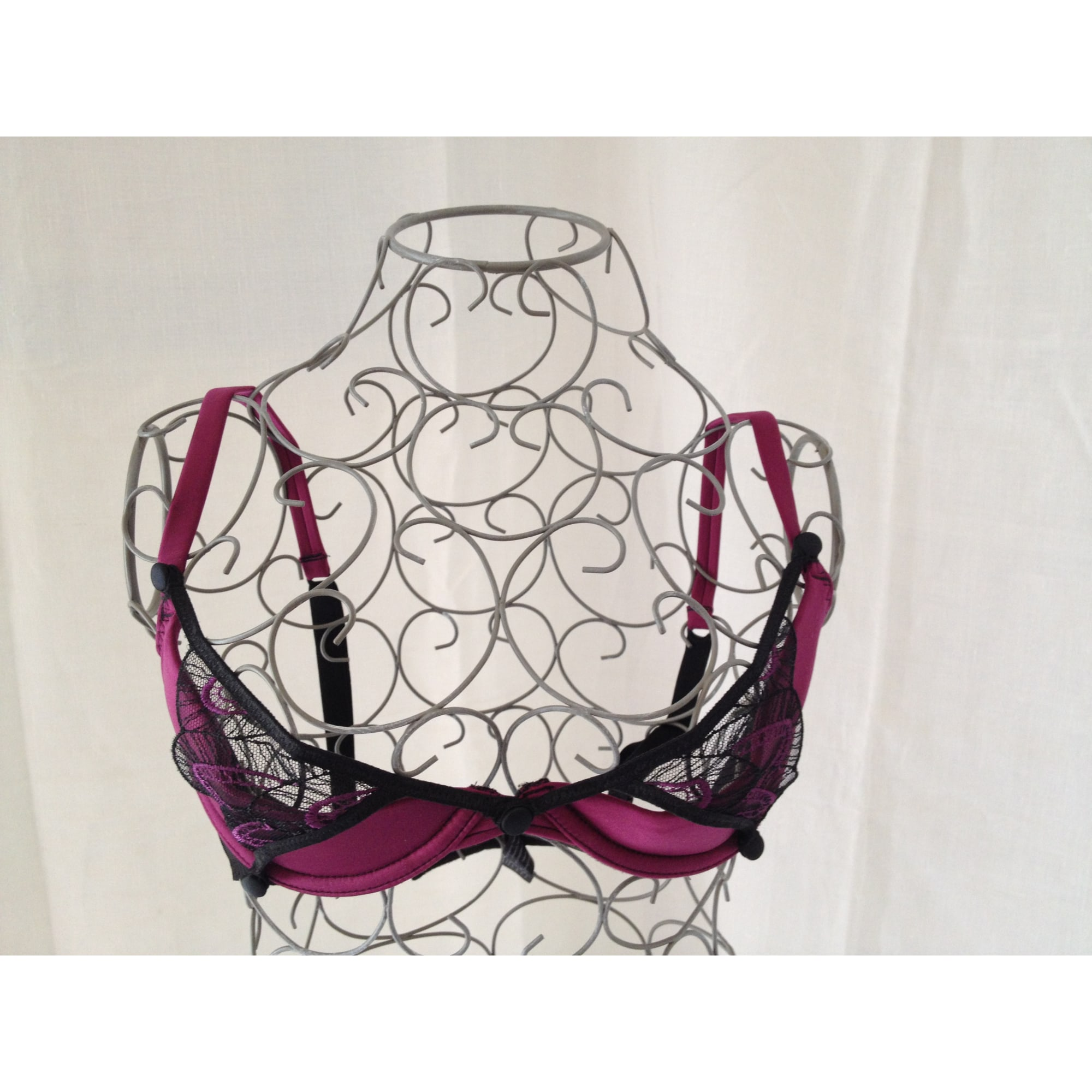 Soutien gorge push up IMPLICITE Rouge, bordeaux