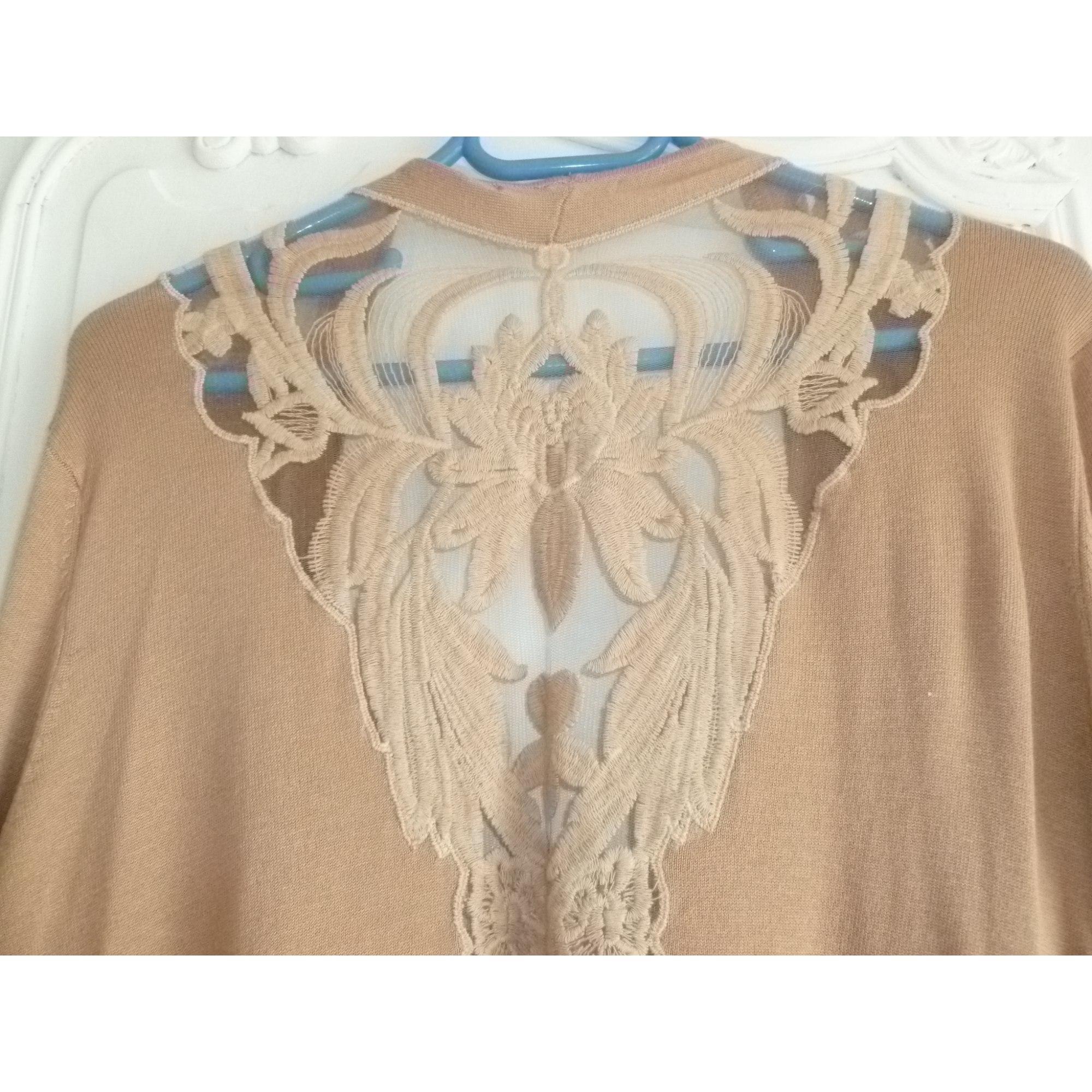 Gilet, cardigan 3 SUISSES Beige, camel