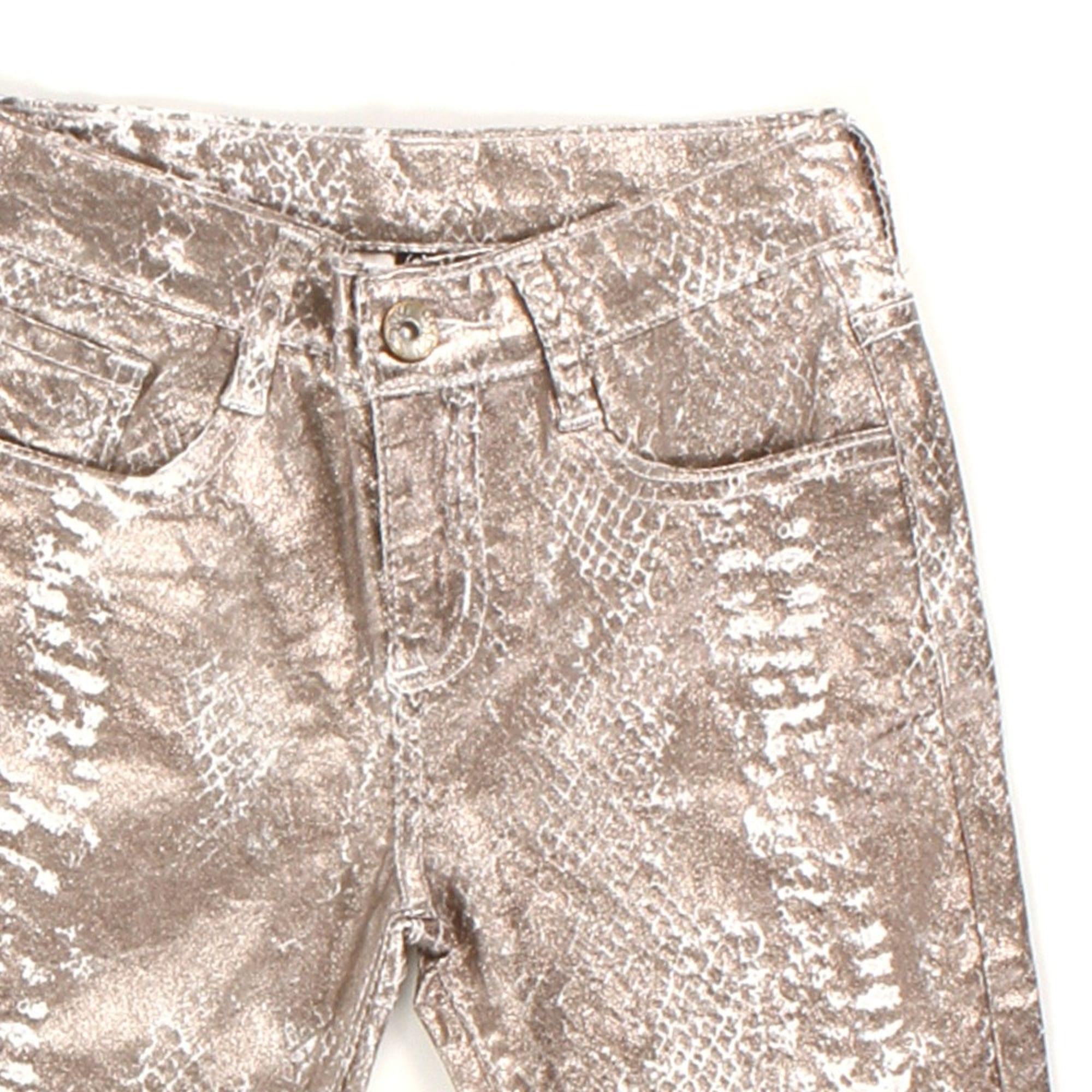 Pantalon slim, cigarette B&K STYLE Doré, bronze, cuivre