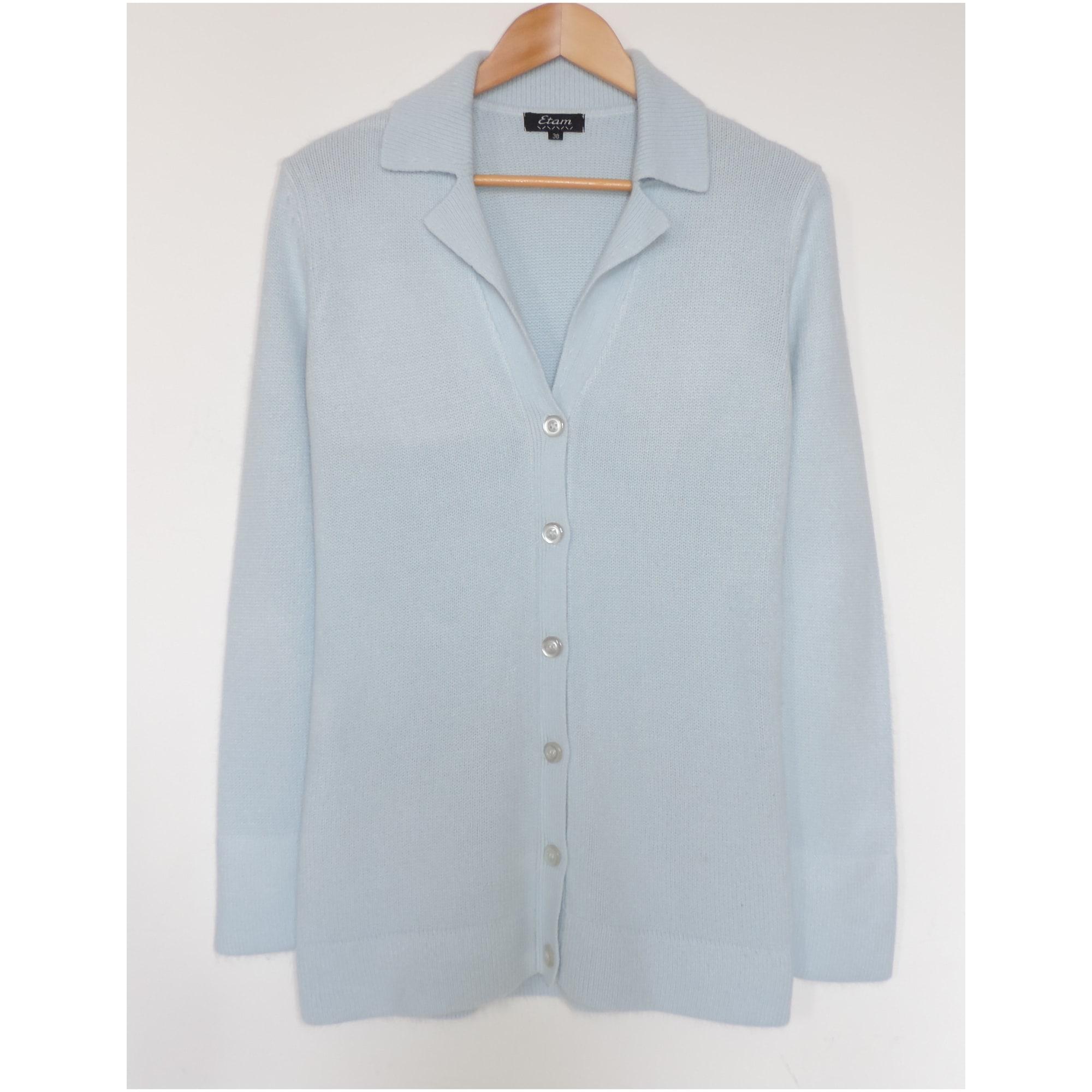 Gilet, cardigan ETAM Bleu, bleu marine, bleu turquoise