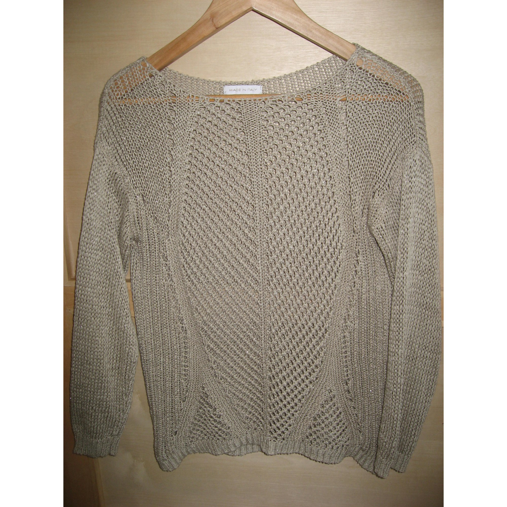 Pull MADE IN ITALIE Beige, camel