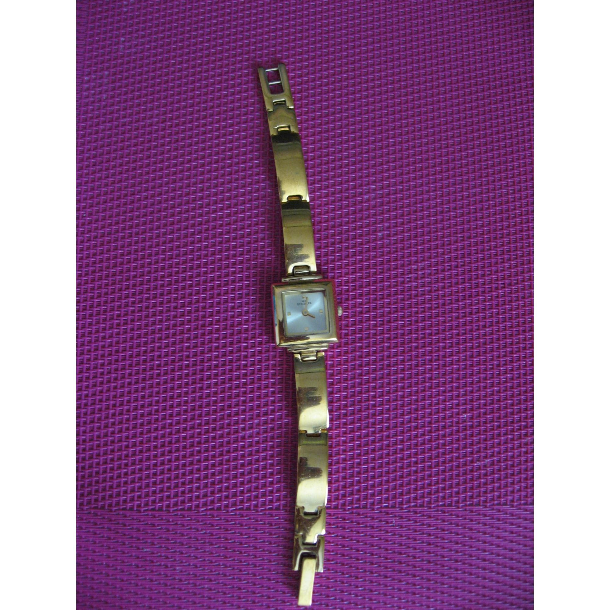 Montre au poignet LOUIS BERTHIER Doré, bronze, cuivre