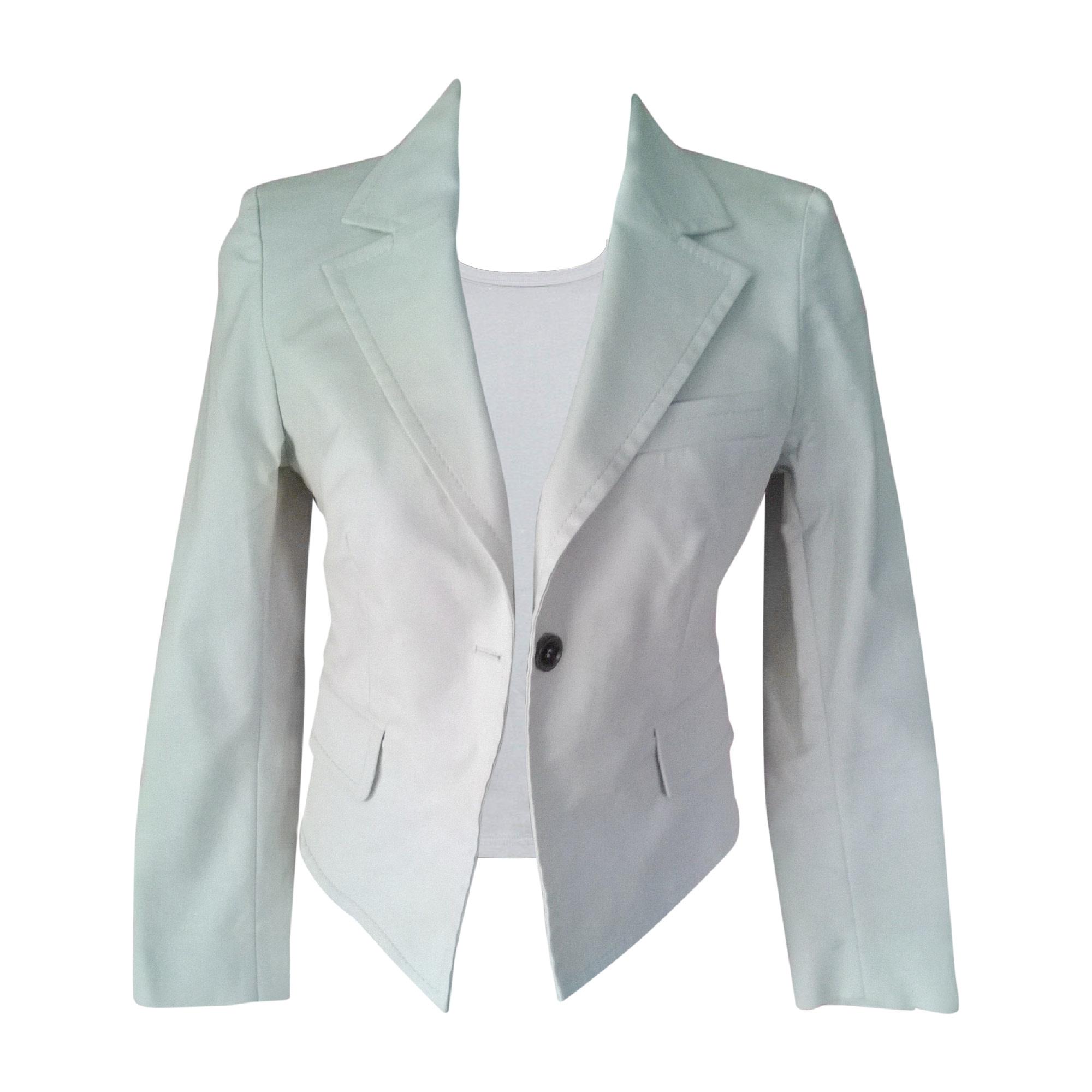 Blazer, veste tailleur CÉLINE Blanc, blanc cassé, écru