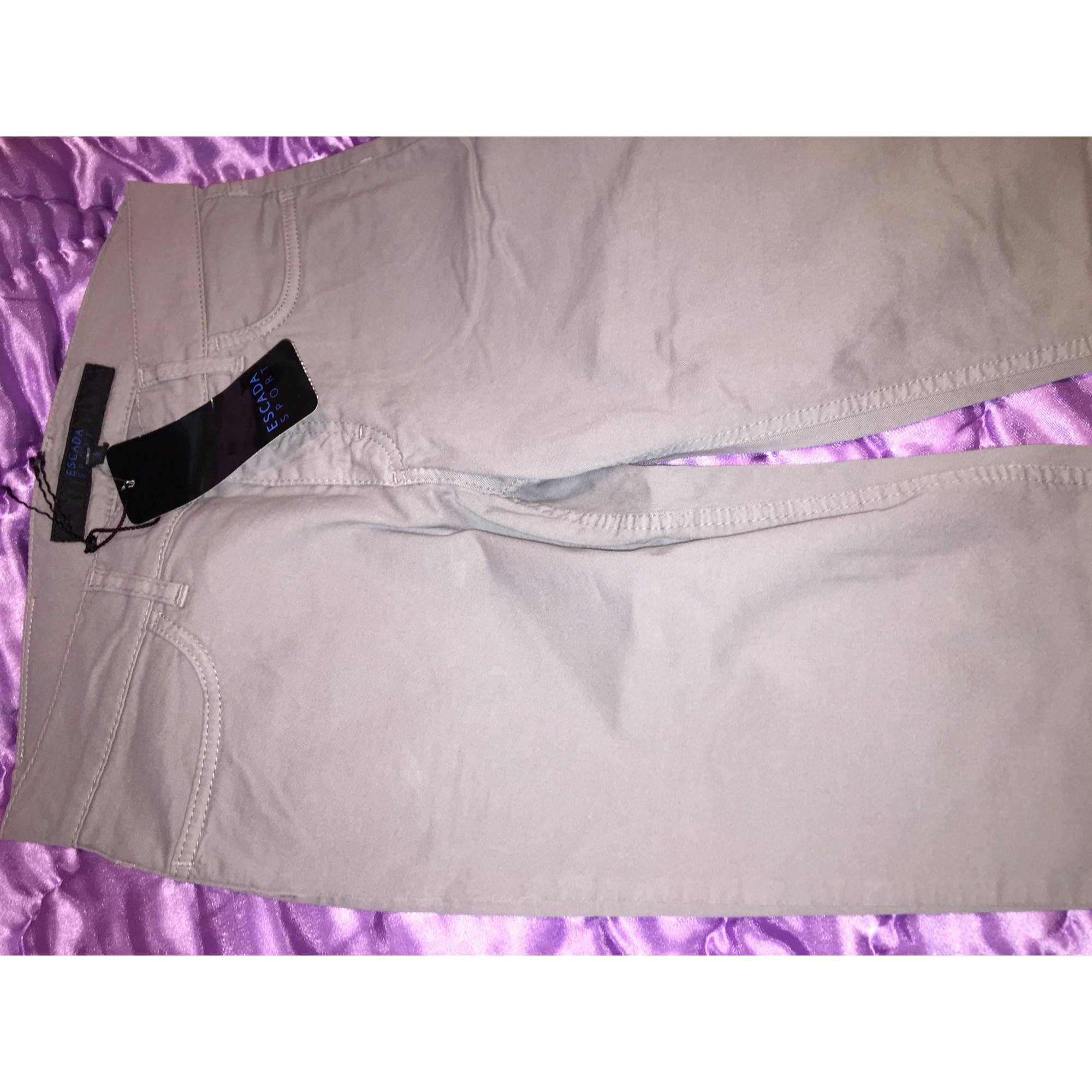 Pantalon droit ESCADA Gris, anthracite
