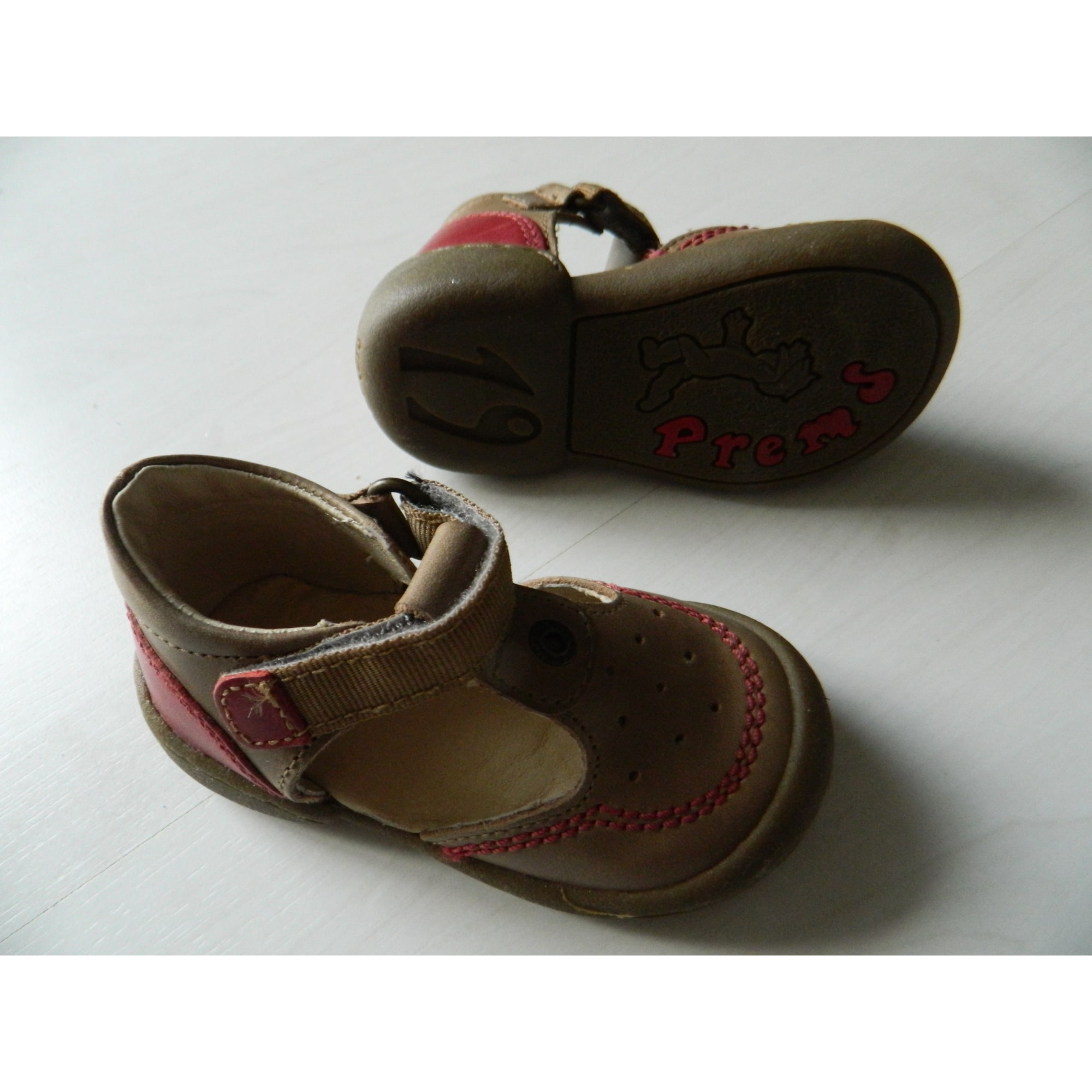 Chaussures à scratch KICKERS Marron