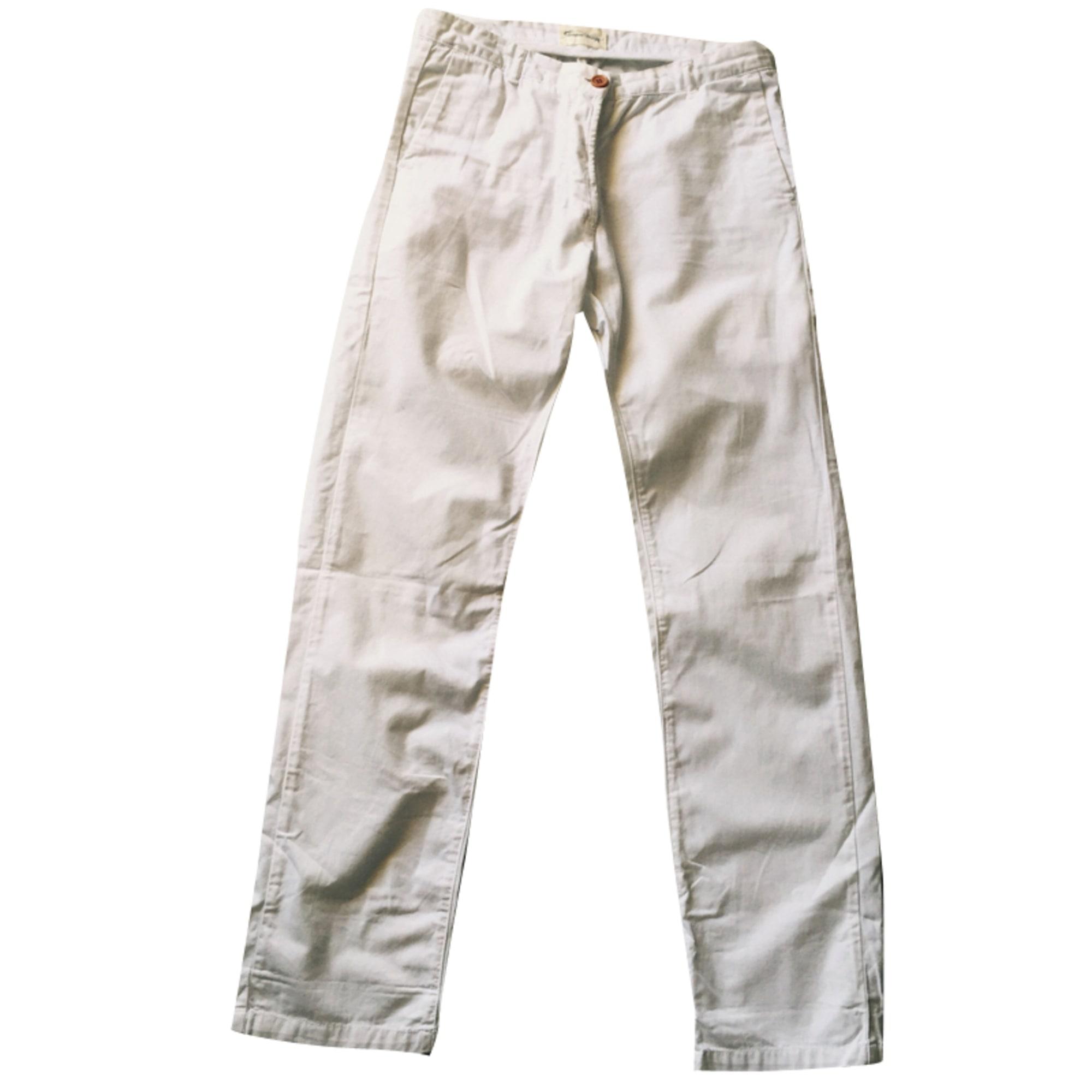 Pantalon droit AMERICAN VINTAGE Blanc, blanc cassé, écru