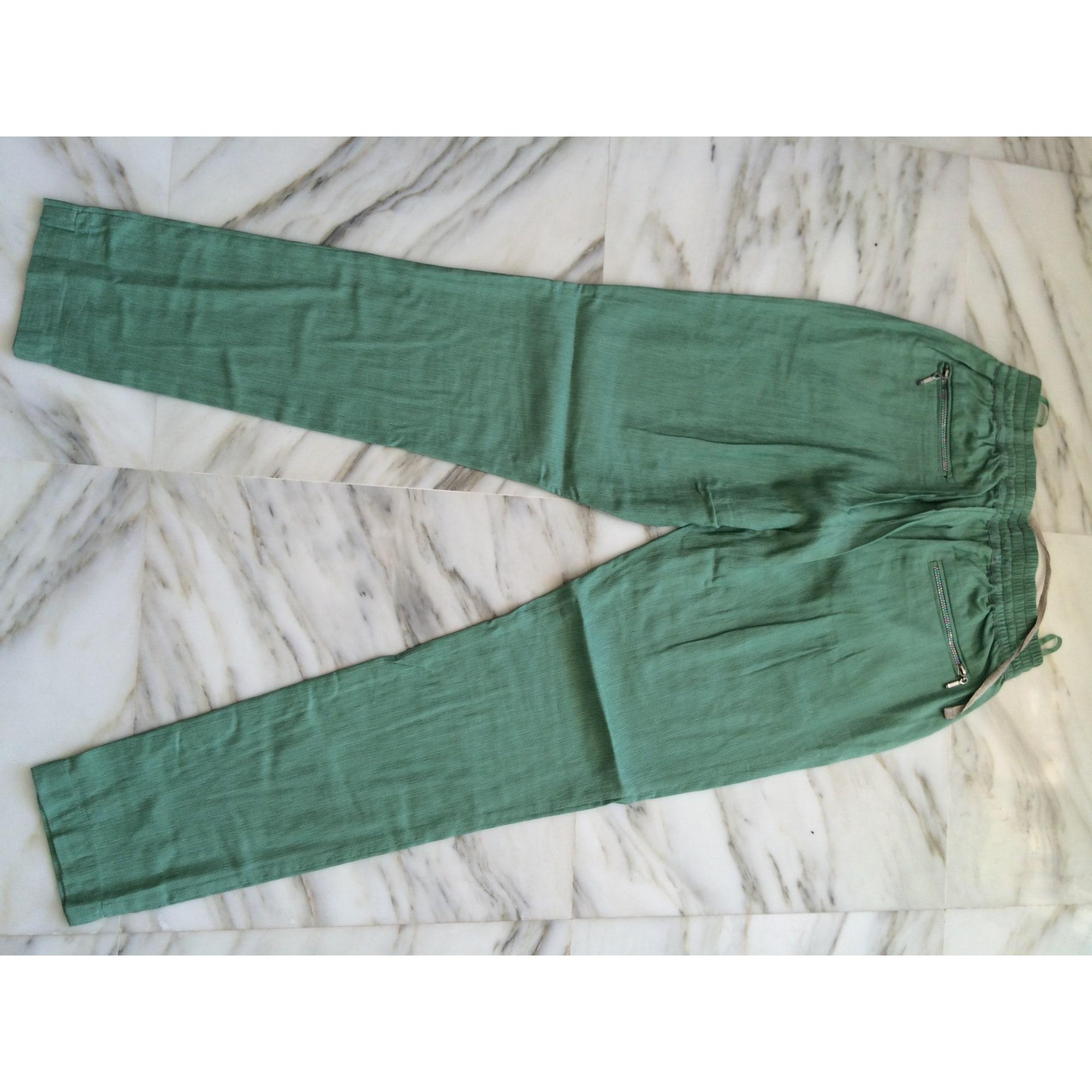 Pantalon carotte SEE U SOON Vert