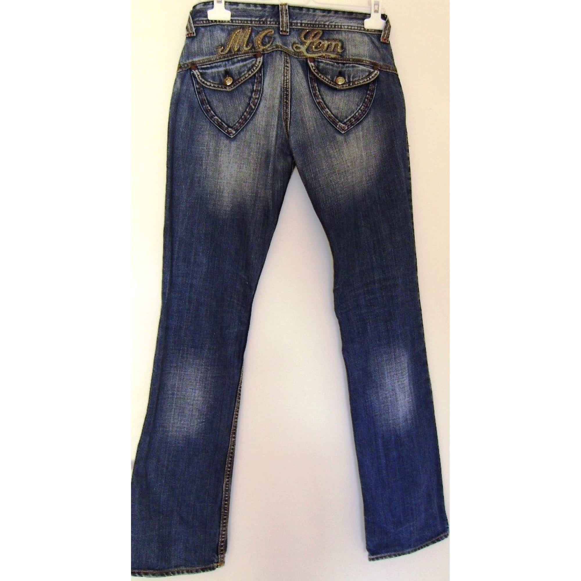 Jeans droit MC LEM Bleu, bleu marine, bleu turquoise