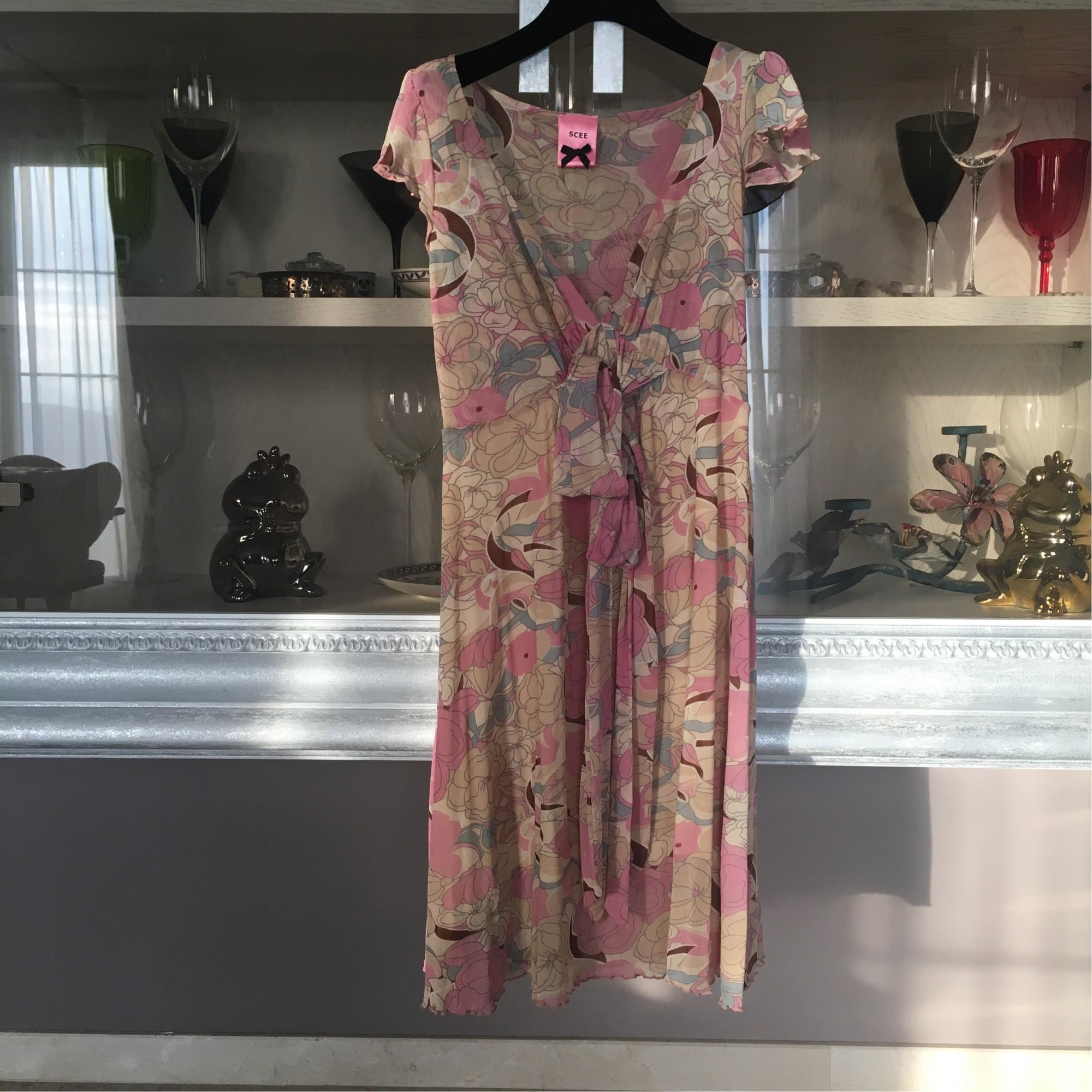 Robe mi-longue TWIN-SET SIMONA BARBIERI Rose, fuschia, vieux rose