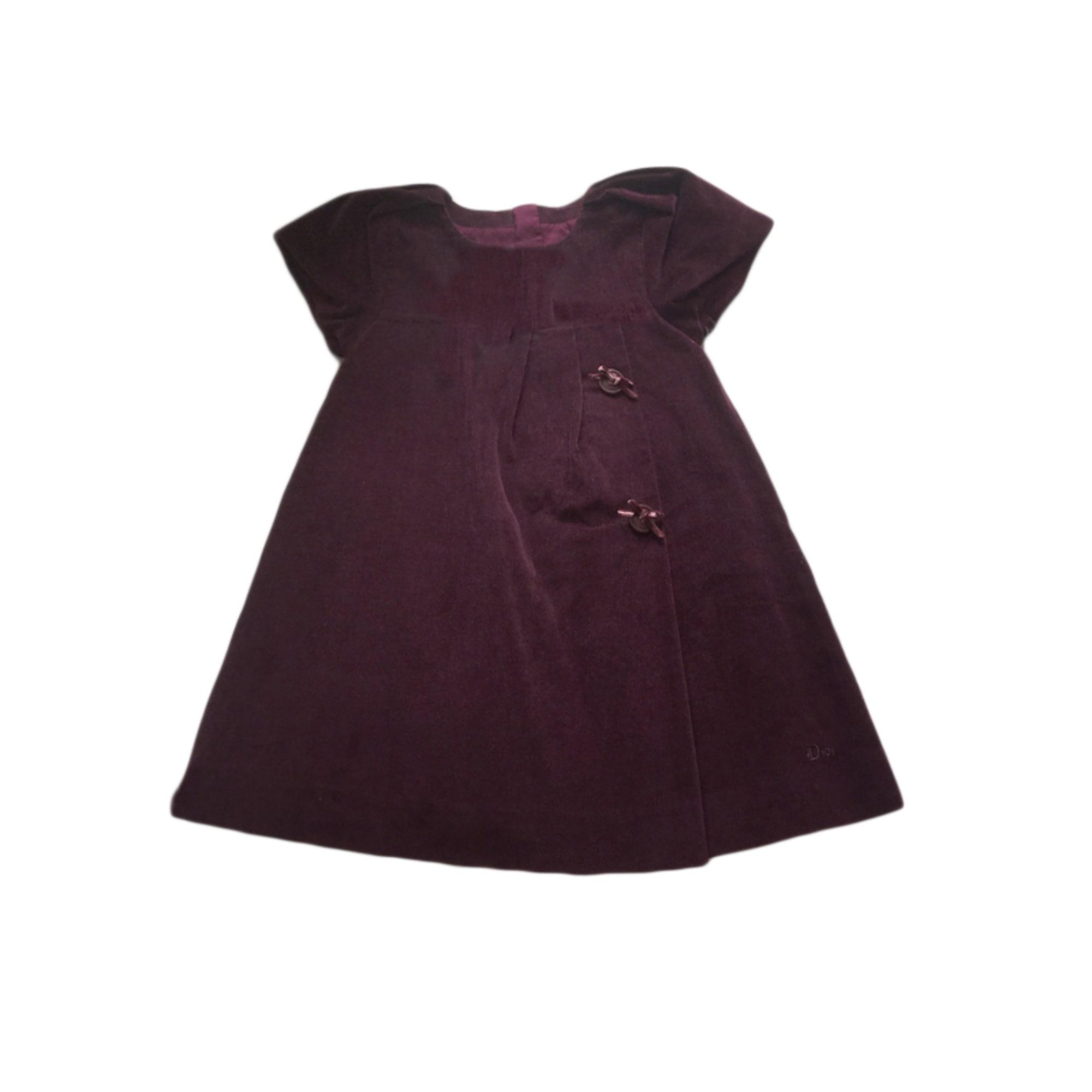 Robe BABY DIOR Violet, mauve, lavande