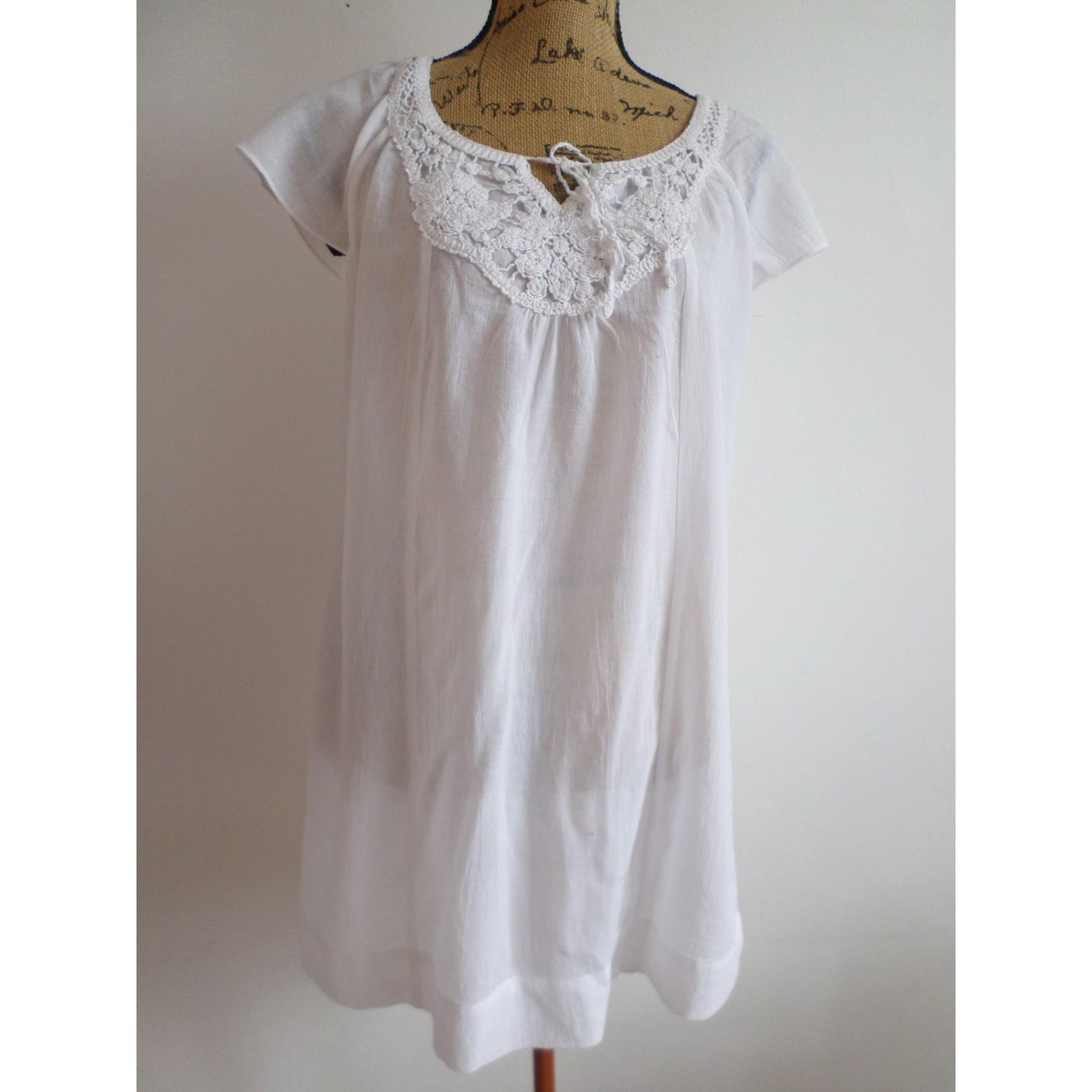 Robe tunique CAROLL Blanc, blanc cassé, écru