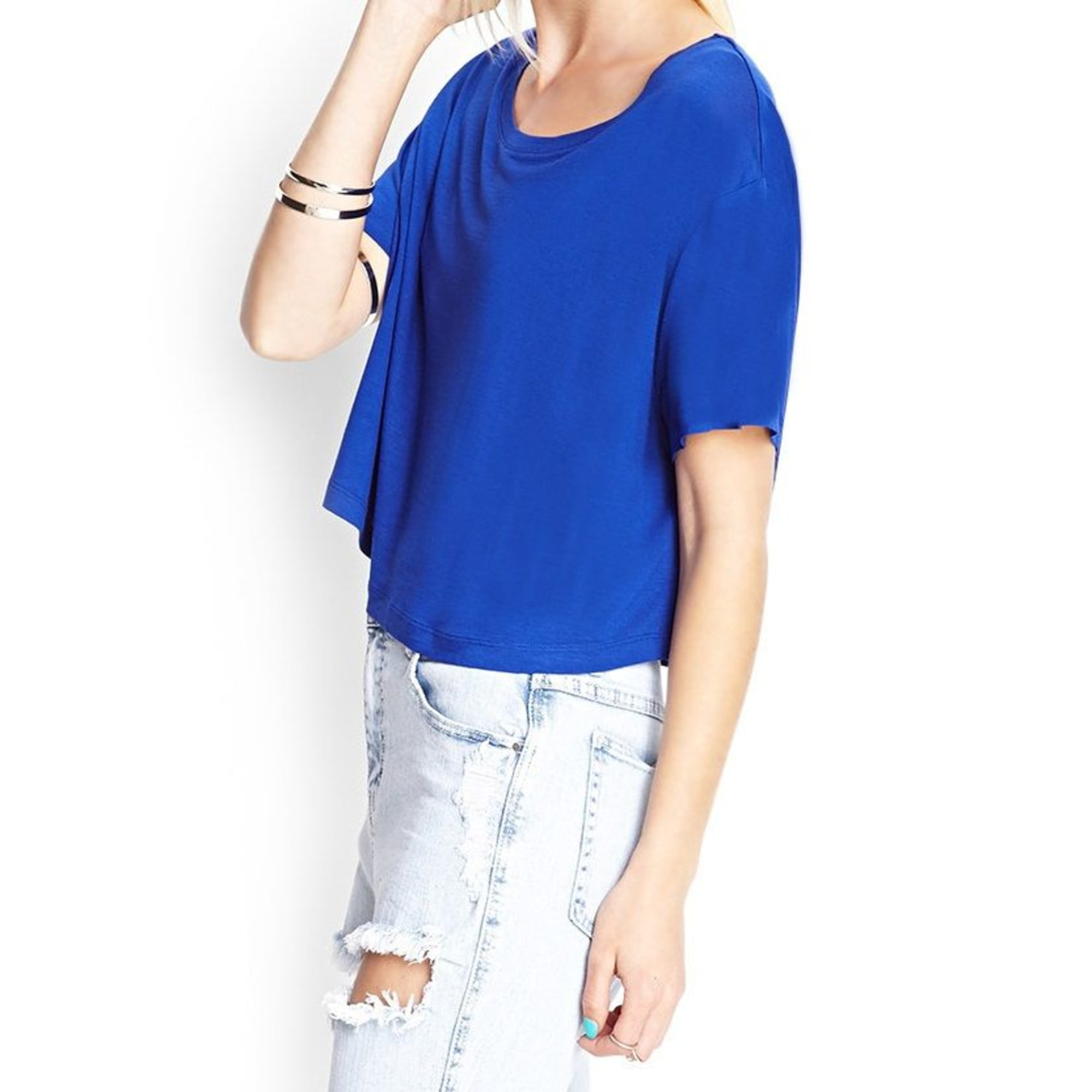 Top, tee-shirt FOREVER 21 Bleu, bleu marine, bleu turquoise