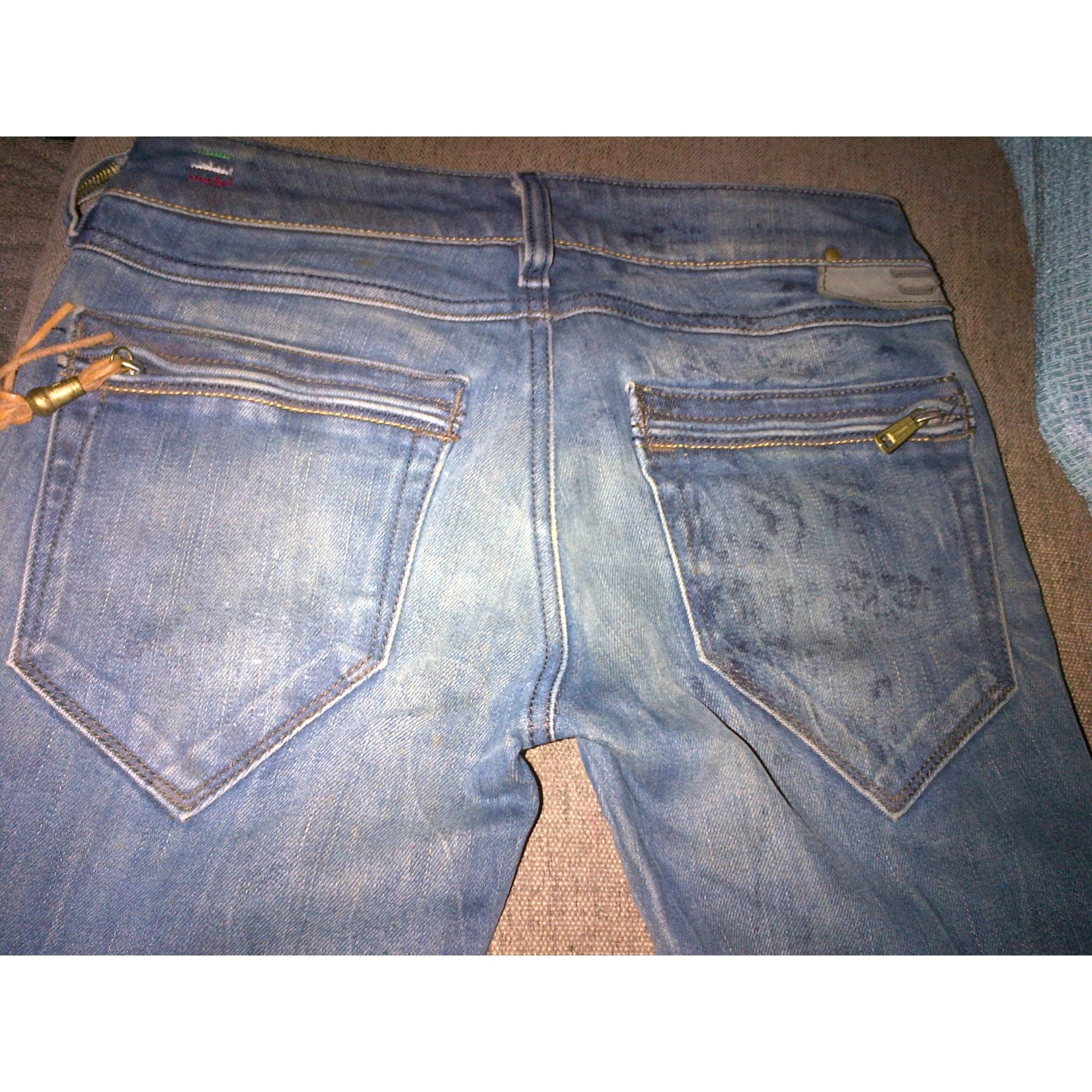 Pantalon slim, cigarette DIESEL Bleu, bleu marine, bleu turquoise