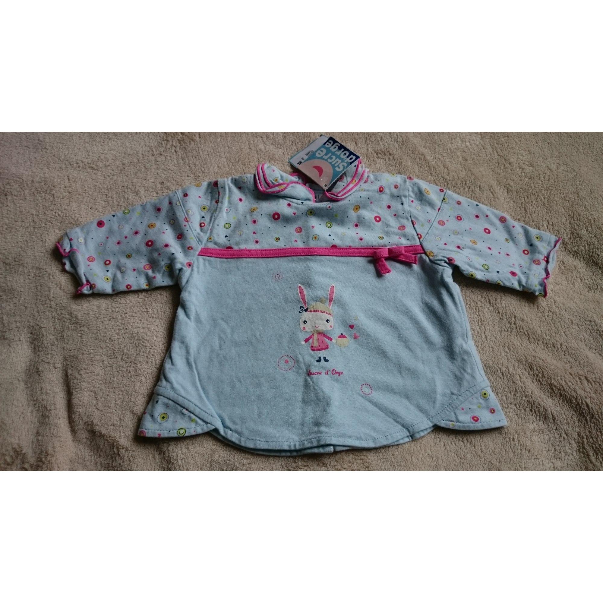 Top, tee shirt SUCRE D'ORGE Bleu, bleu marine, bleu turquoise