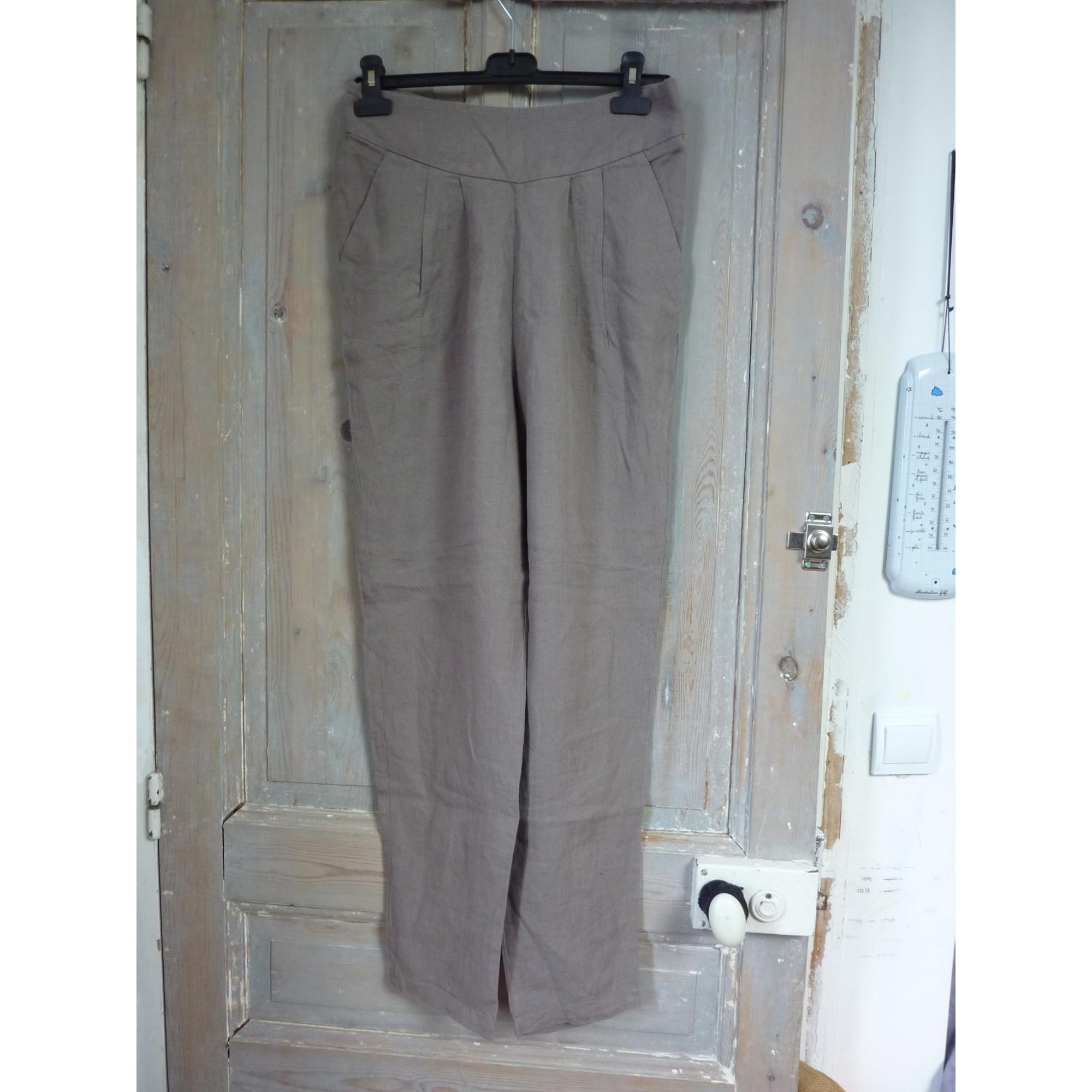 Pantalon carotte MONOPRIX Kaki
