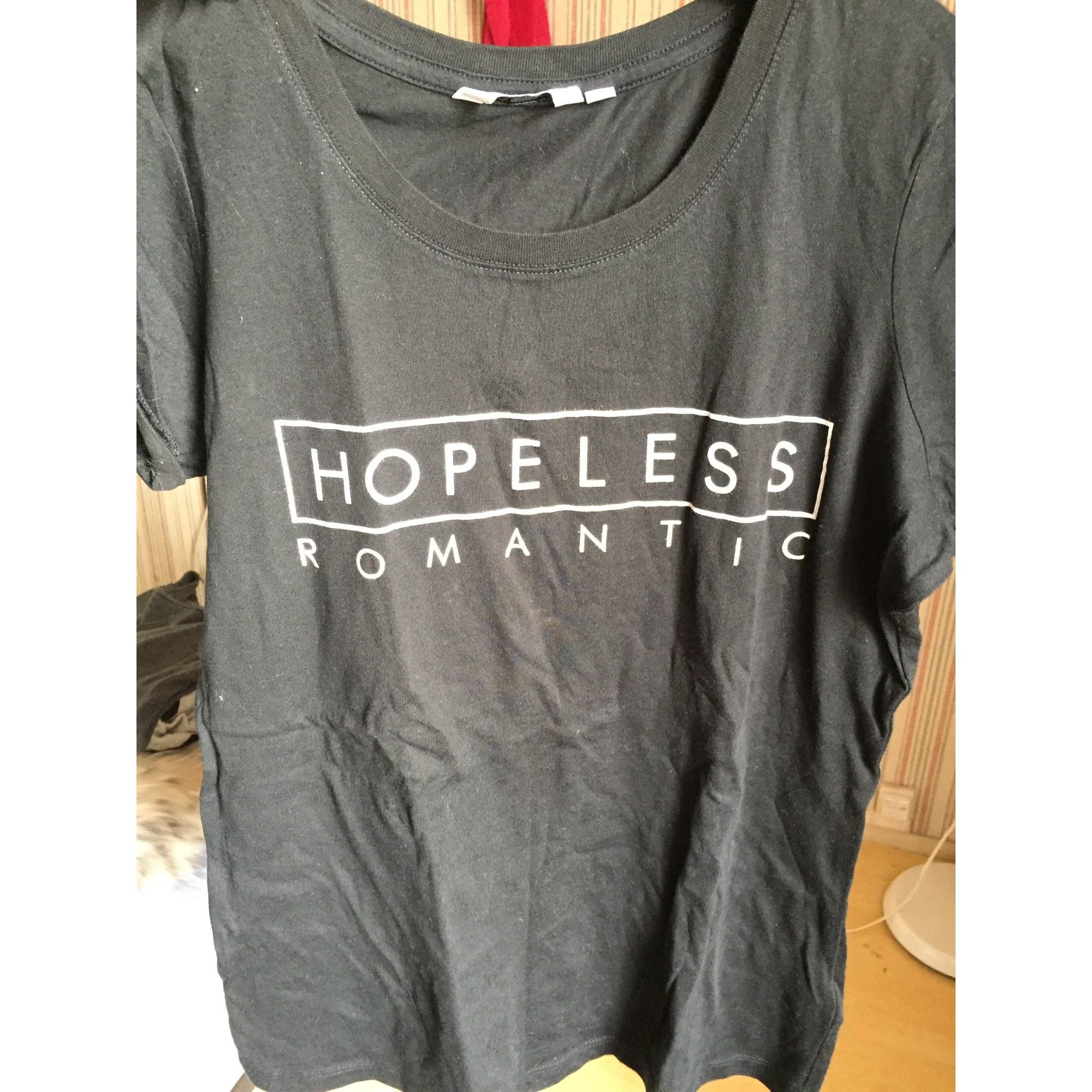 Top, tee-shirt NEW LOOK Noir