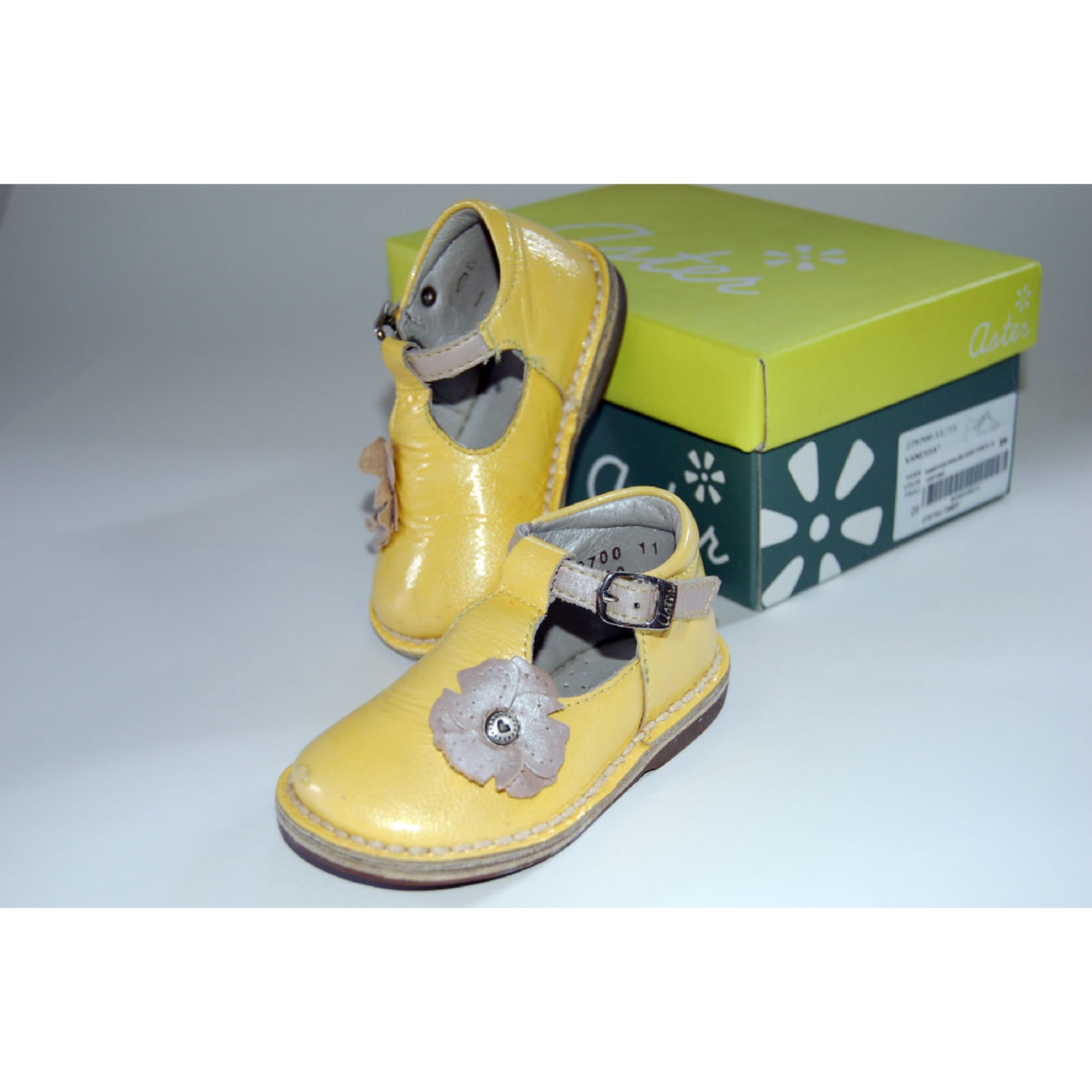 Chaussures à boucle ASTER Jaune