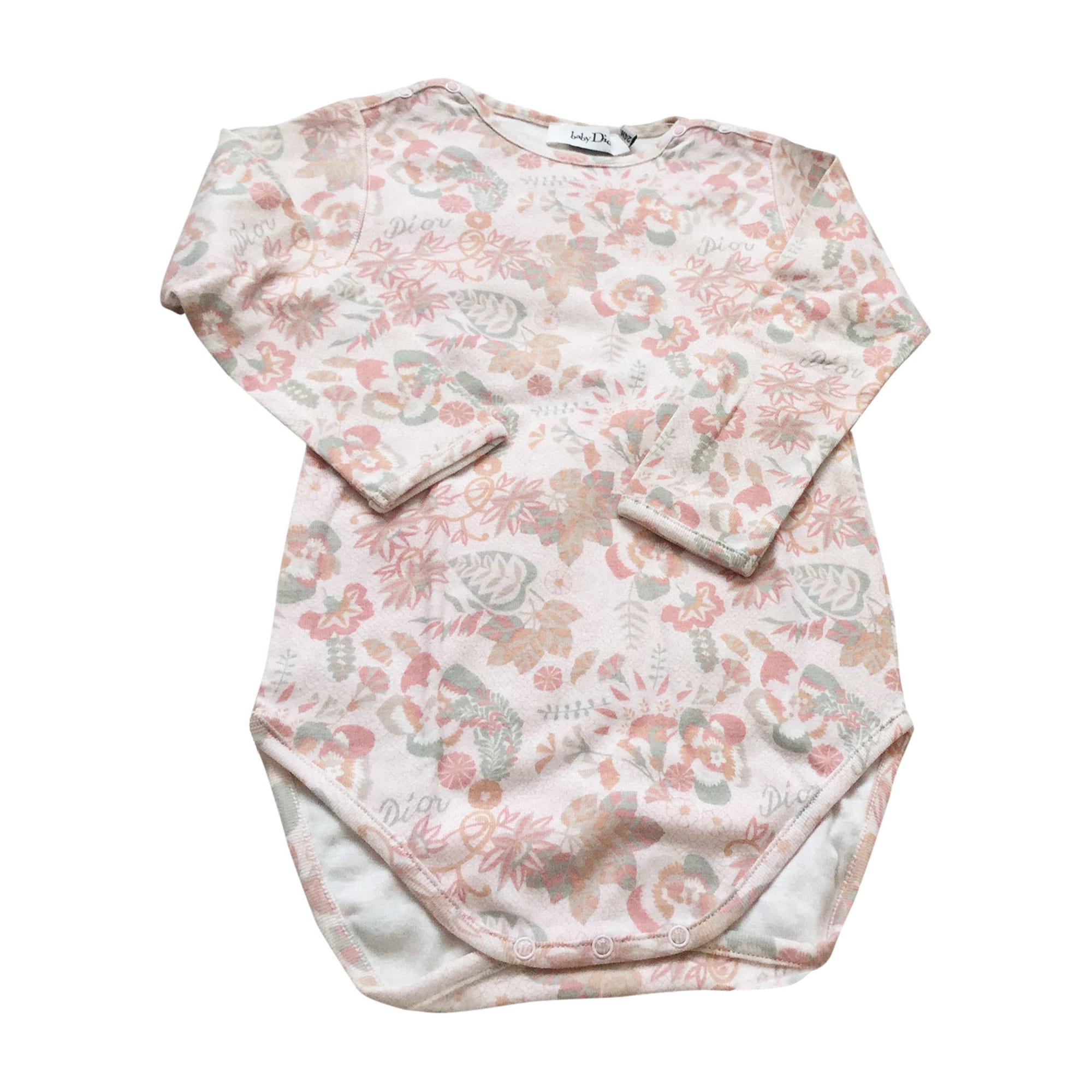 Top, Tee-shirt BABY DIOR Rose, fuschia, vieux rose