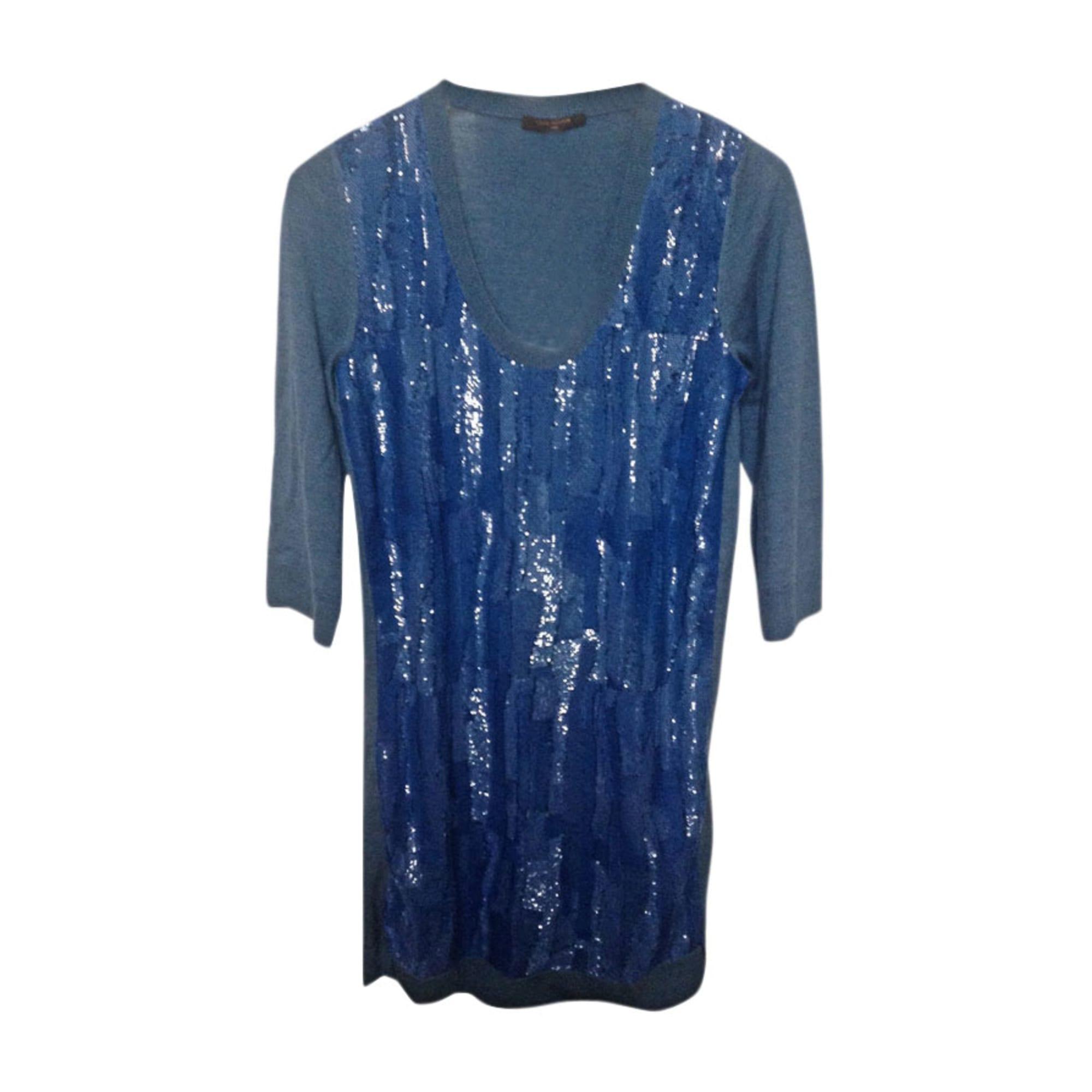 Pull tunique LOUIS VUITTON Bleu, bleu marine, bleu turquoise
