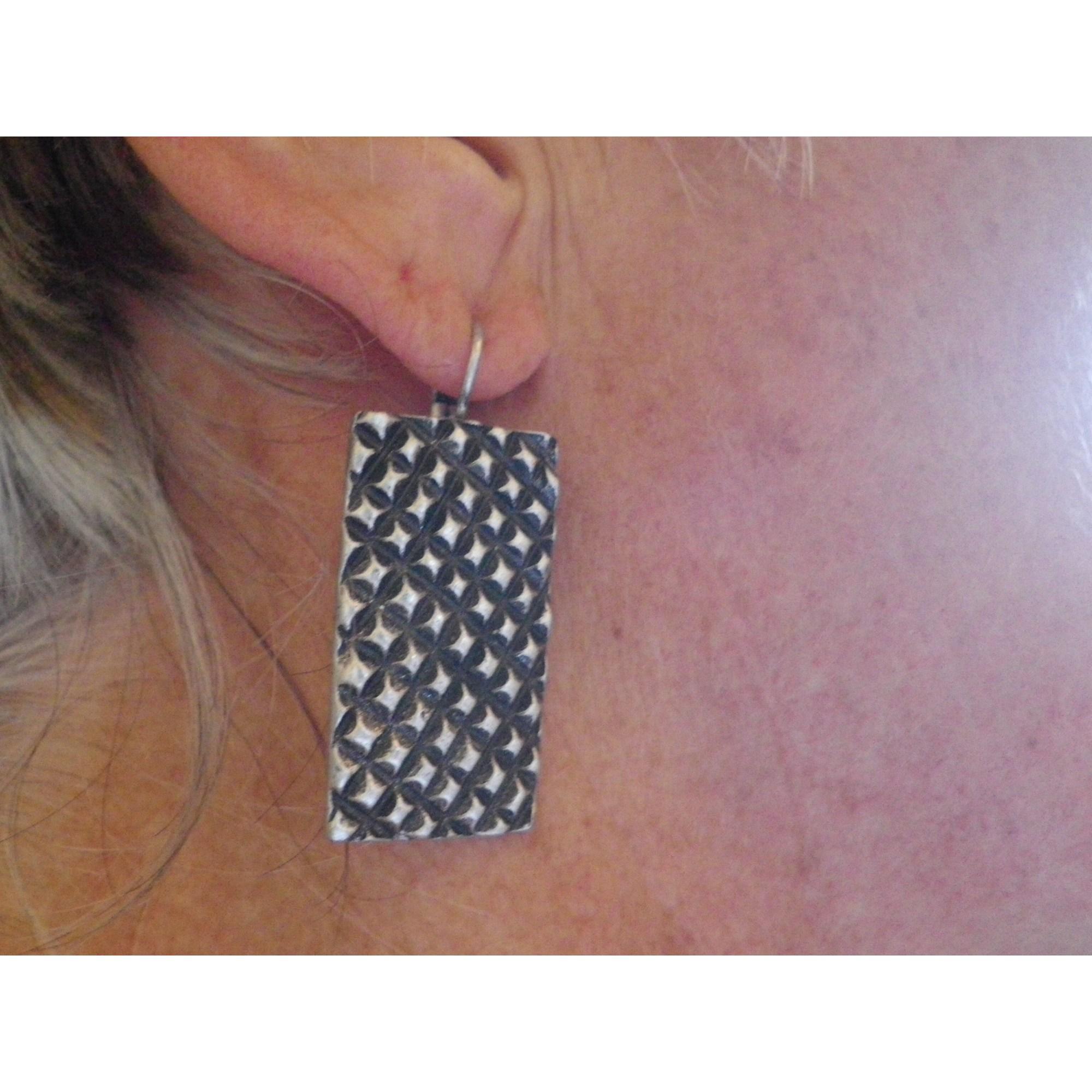 Boucles d'oreille LA TRIBU RIGAUX Argenté, acier