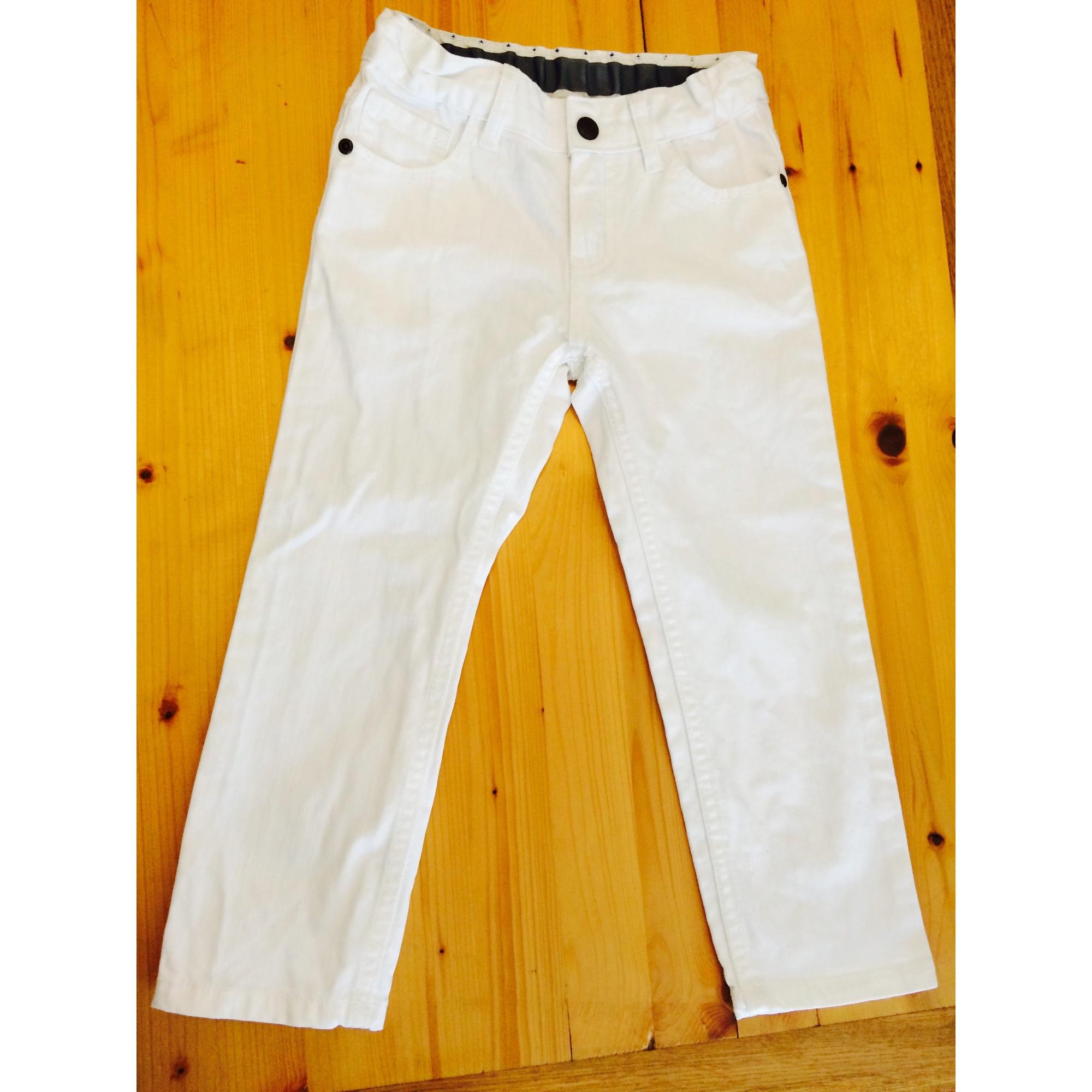 Jeans droit PETIT BATEAU Blanc, blanc cassé, écru