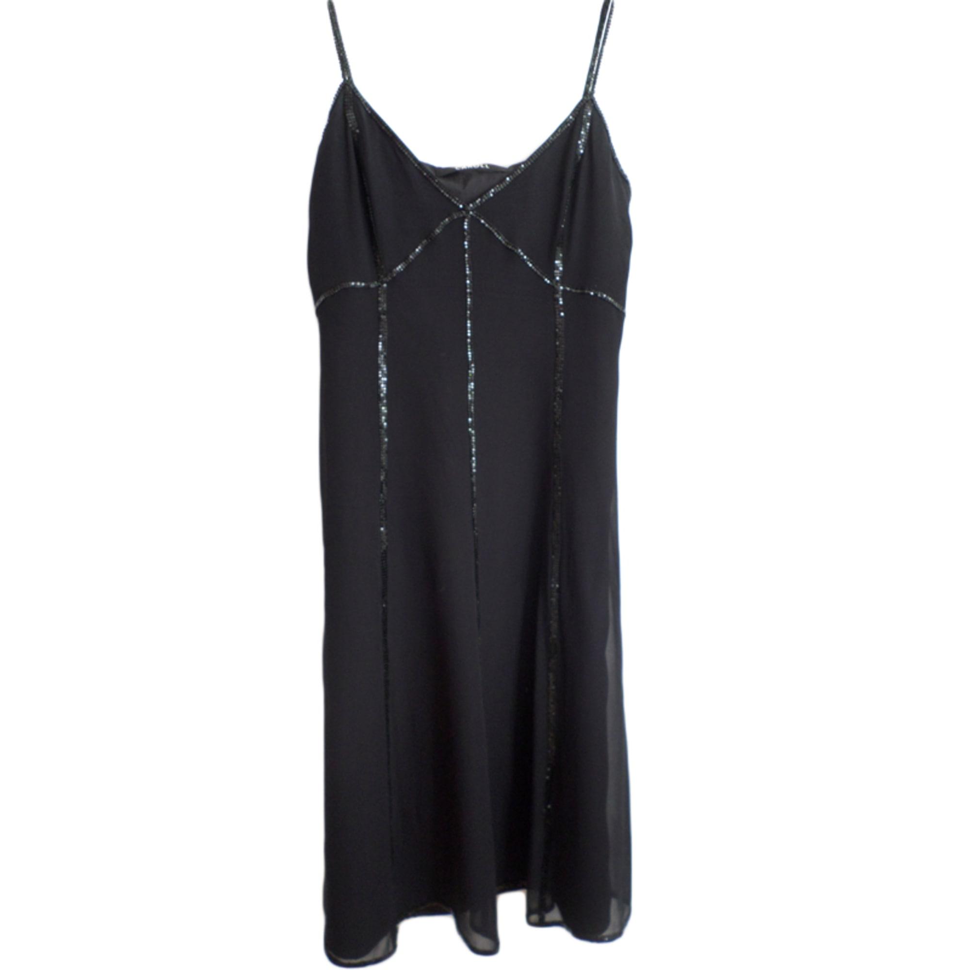 Robe Mi Longue Caroll 40 L T3 Noir 3745166
