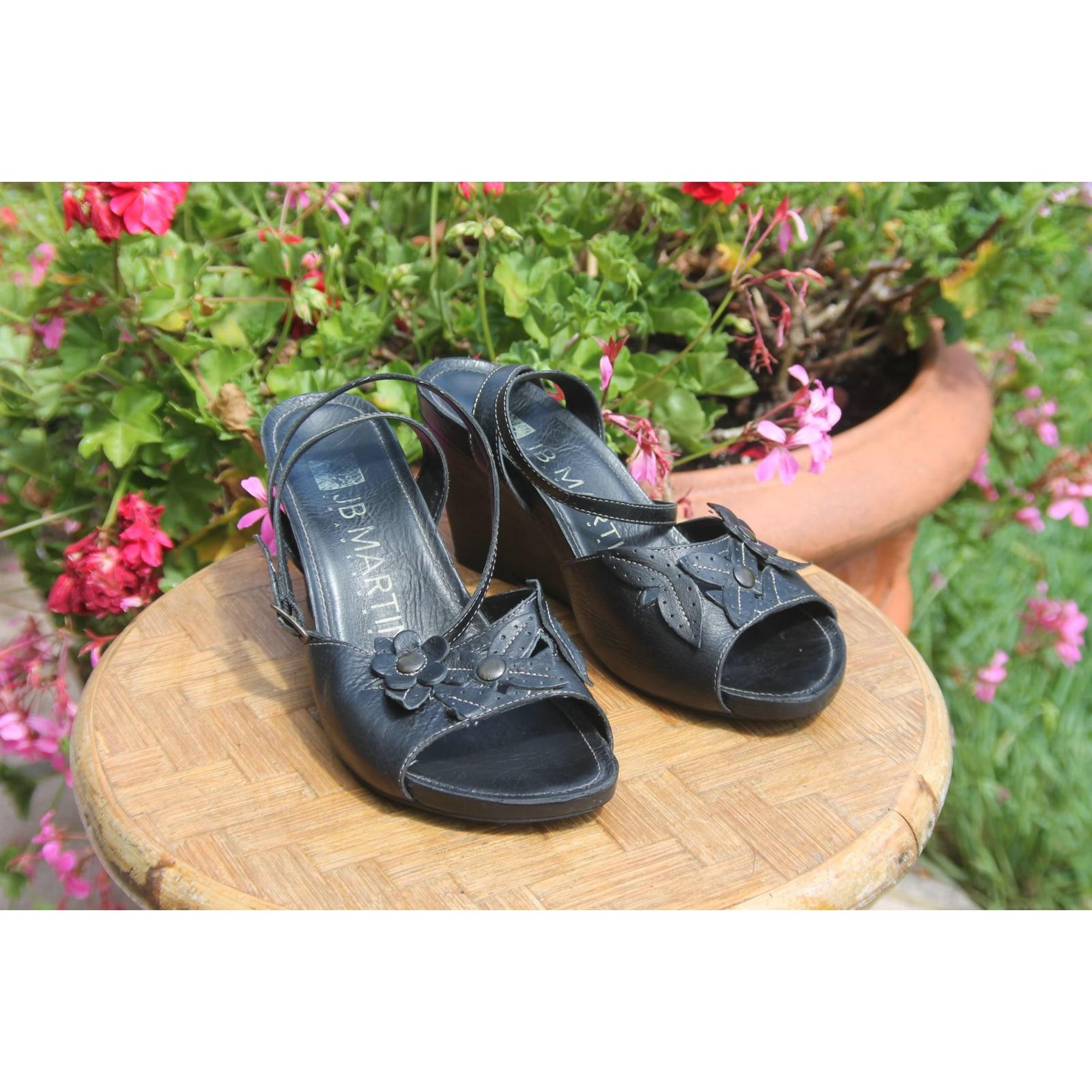 Sandales compensées JB MARTIN Noir