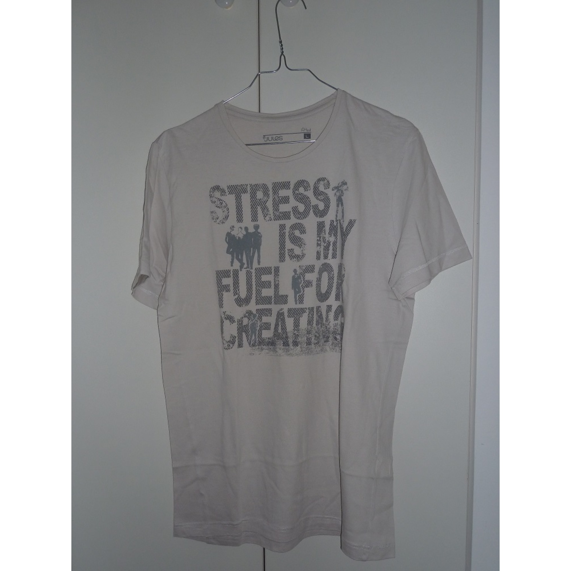 T-shirt JULES White, off-white, ecru