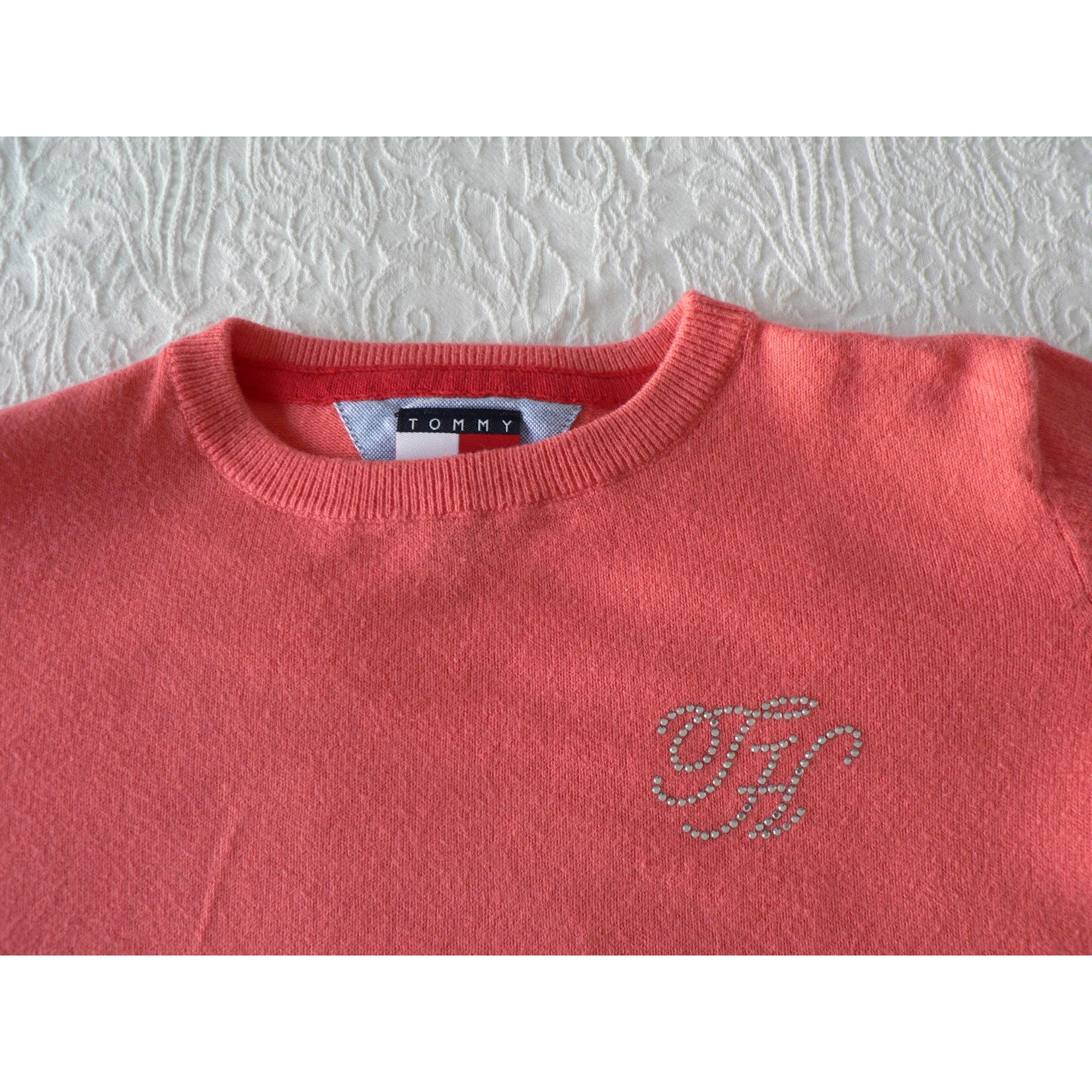 Pull TOMMY HILFIGER Rose, fuschia, vieux rose