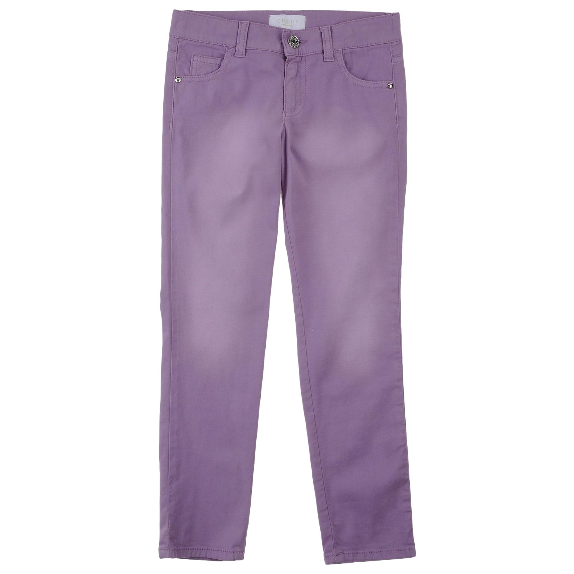 Pantalon GUCCI Violet, mauve, lavande