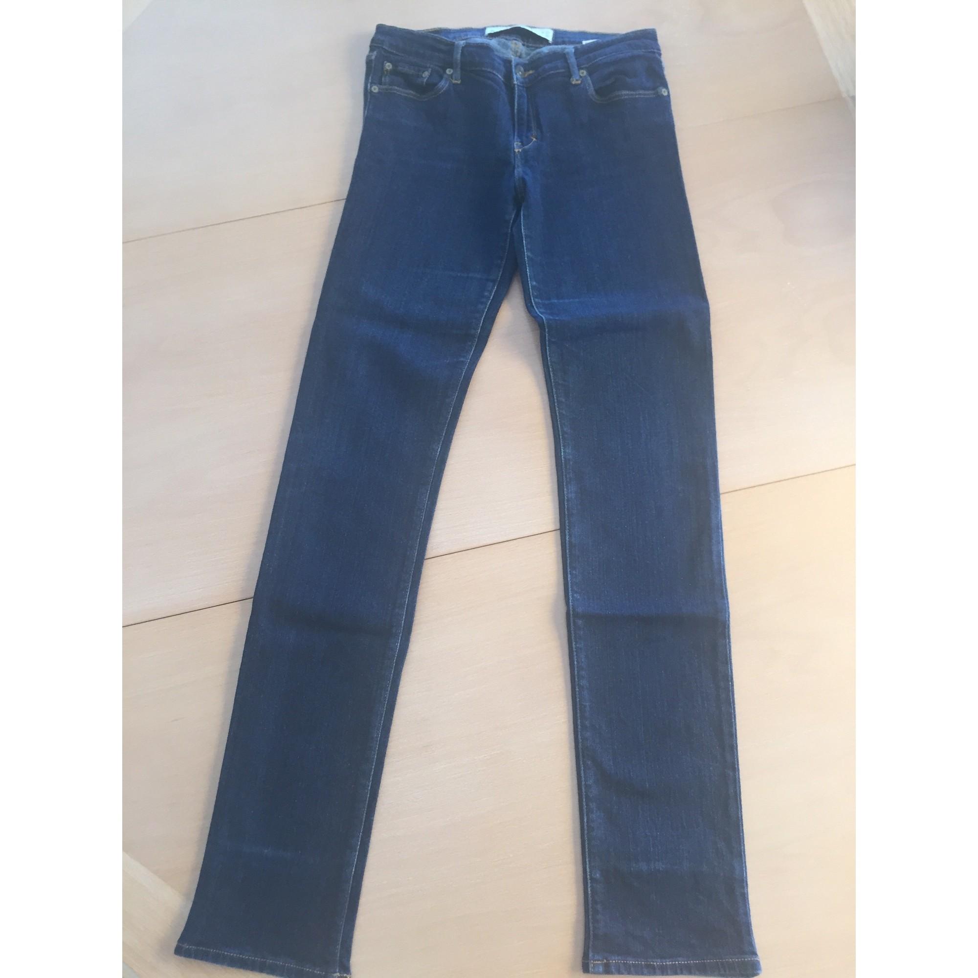 Jeans droit ABERCROMBIE & FITCH Bleu, bleu marine, bleu turquoise