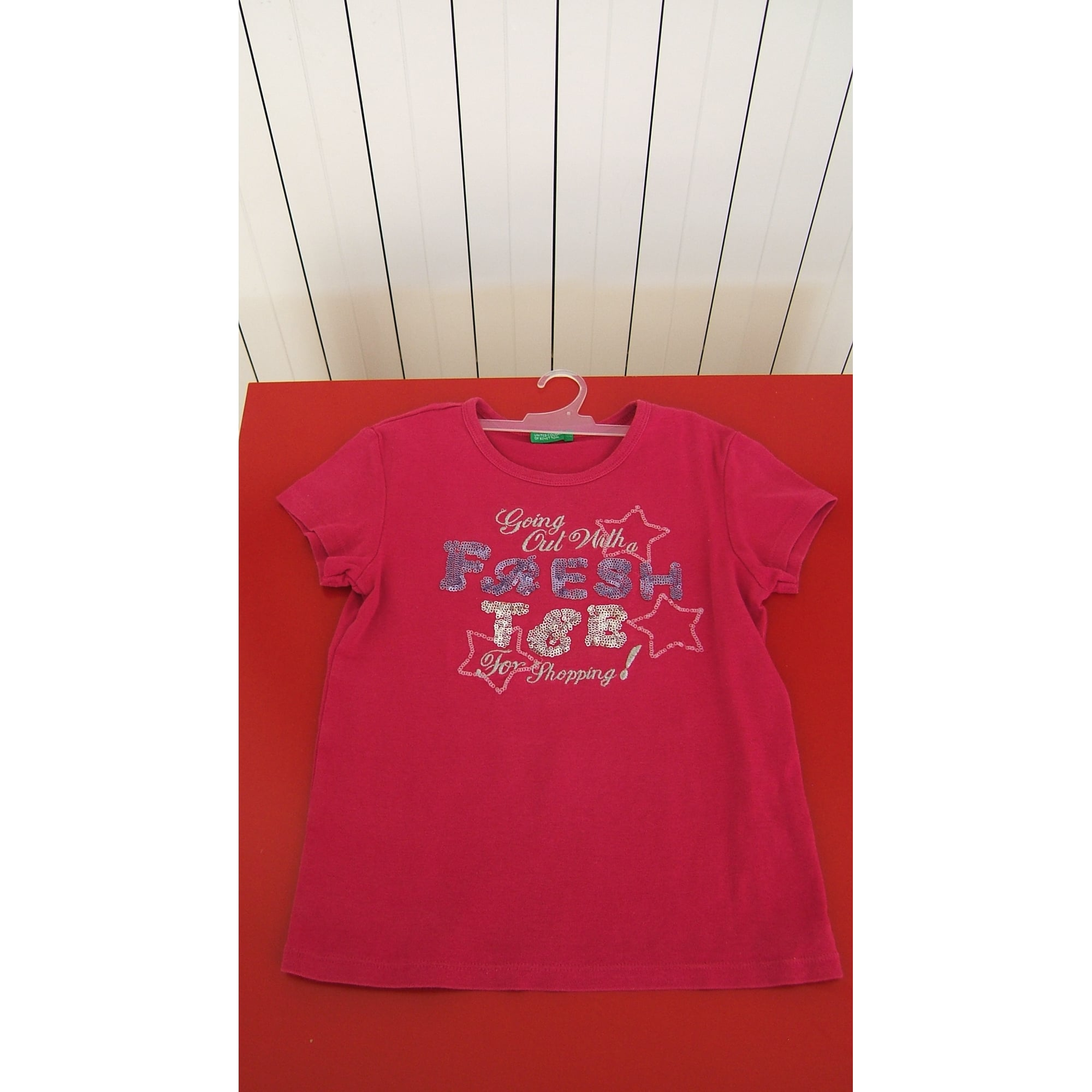 Top, Tee-shirt UNITED COLORS OF BENETTON Rose, fuschia, vieux rose