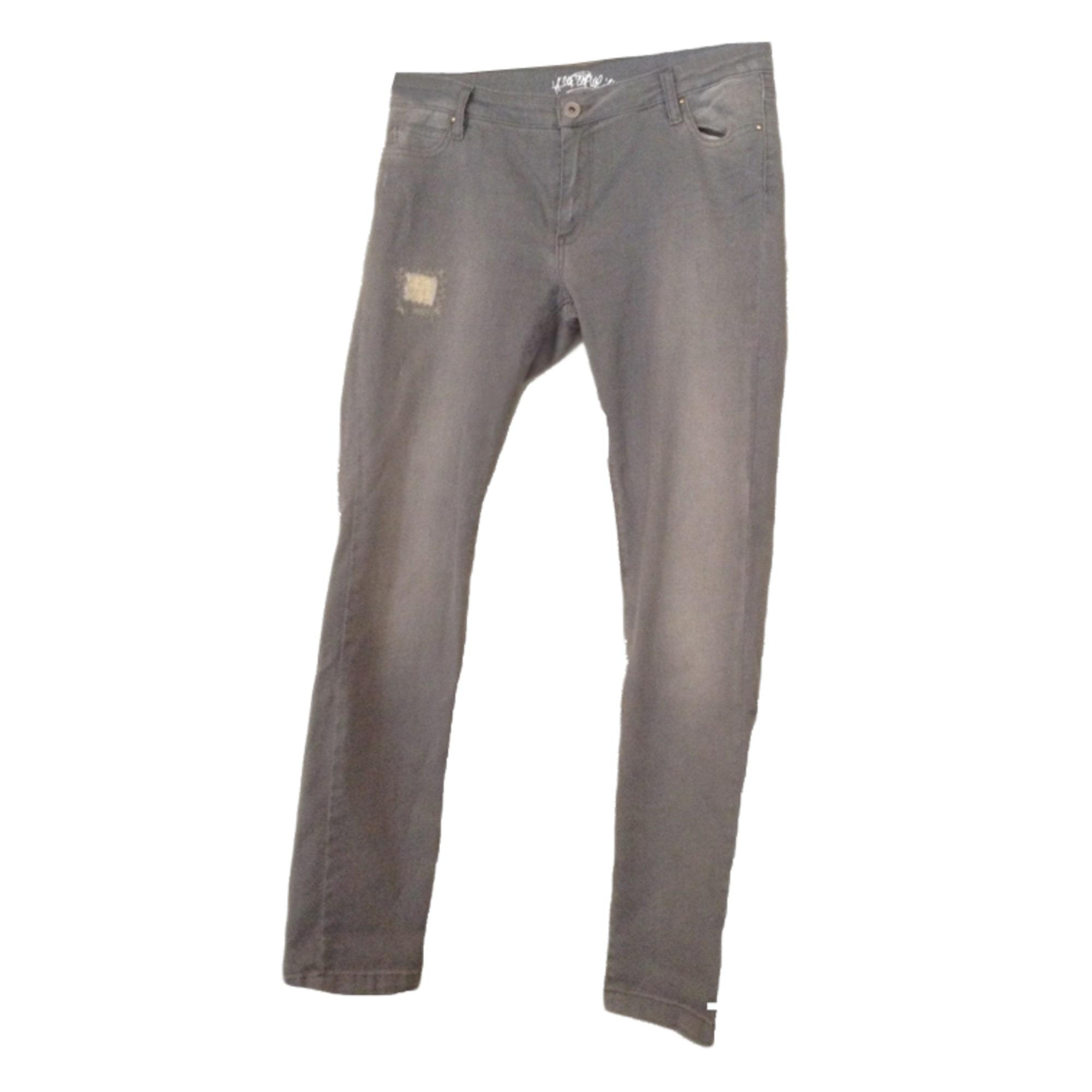 Jeans droit COP-COPINE Gris, anthracite